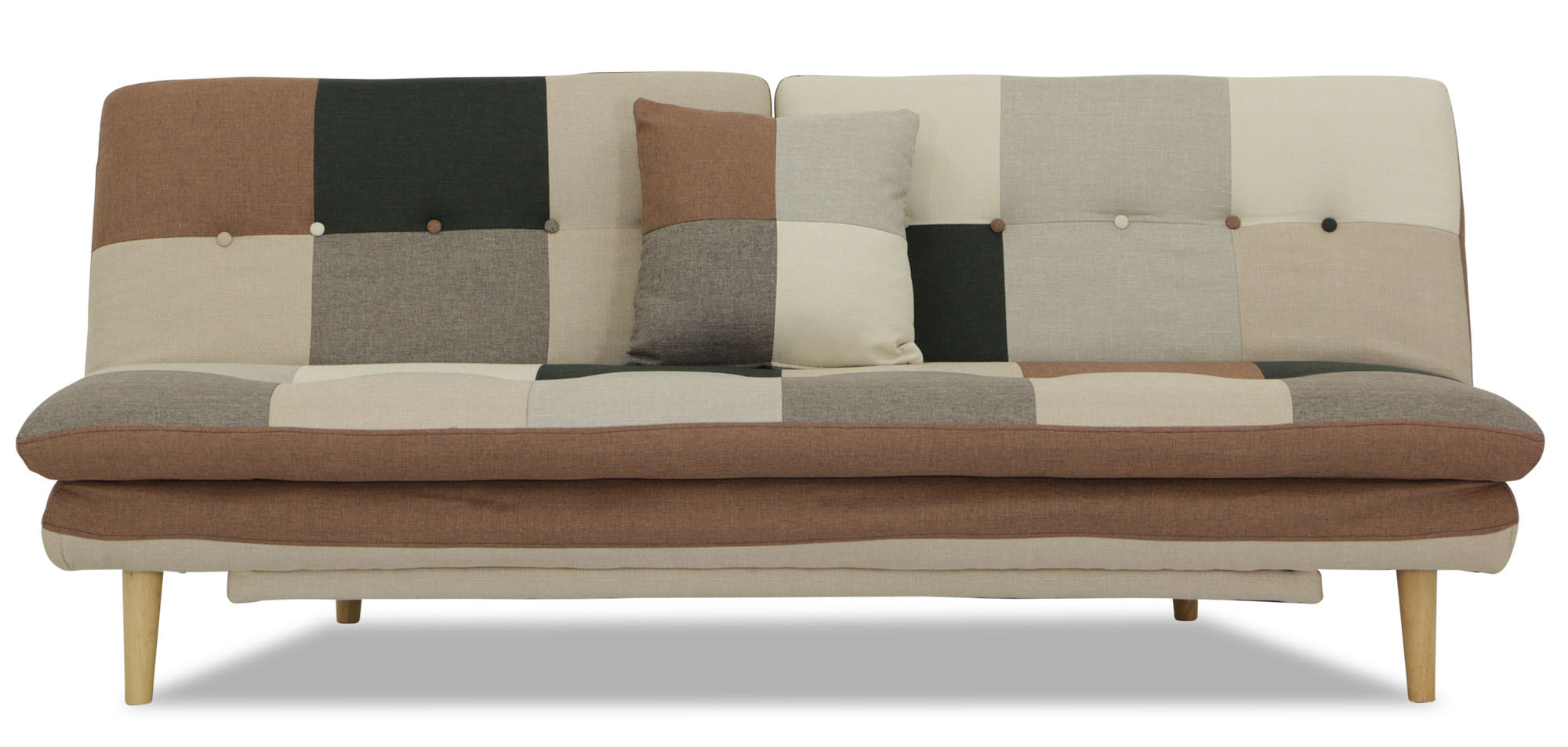 Jeza Patchwork Sofa Bed Grey Mix