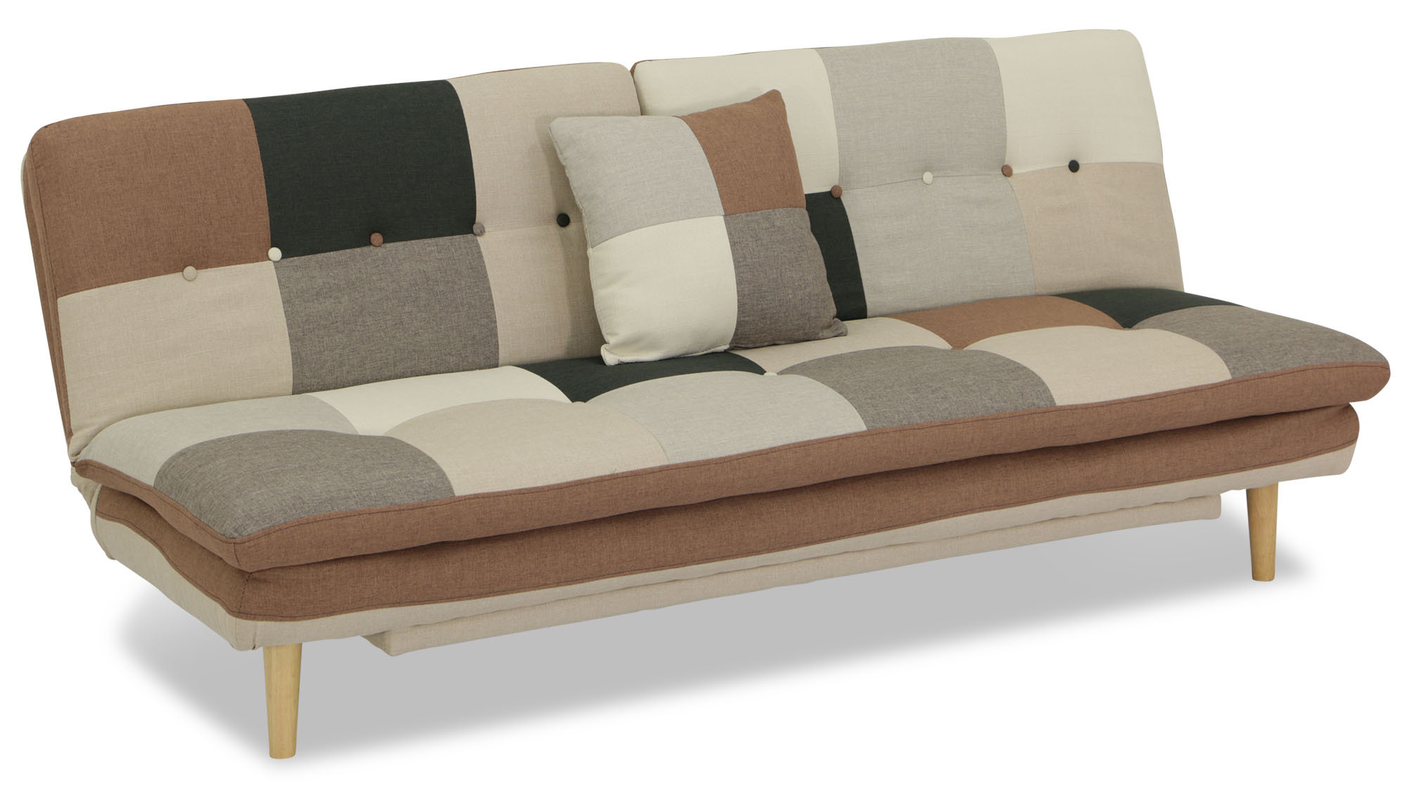 Jeza Patchwork Sofa Bed Grey Mix Furniture Home Decor Fortytwo