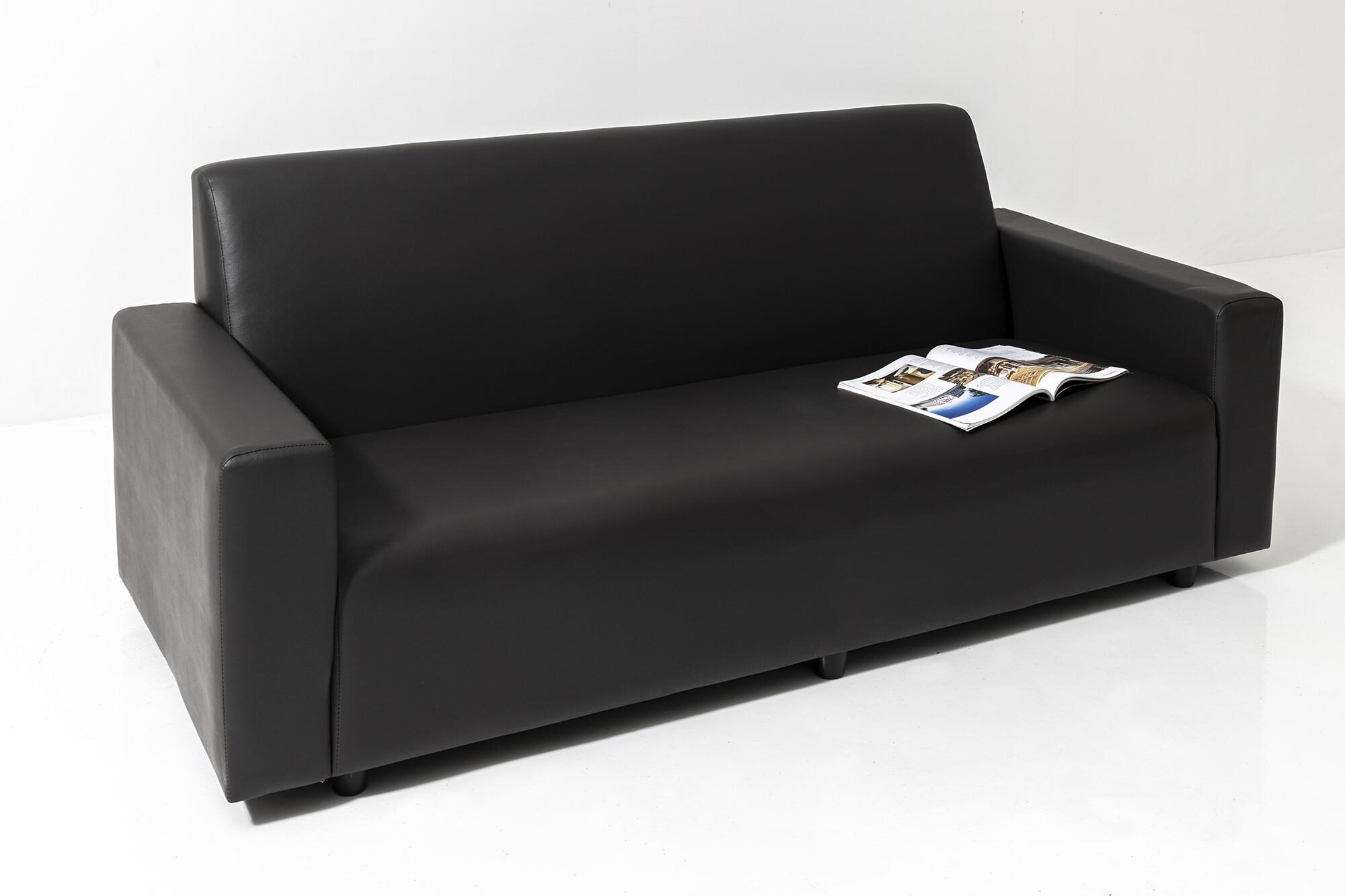 Adam 3 Seater Faux Leather Sofa