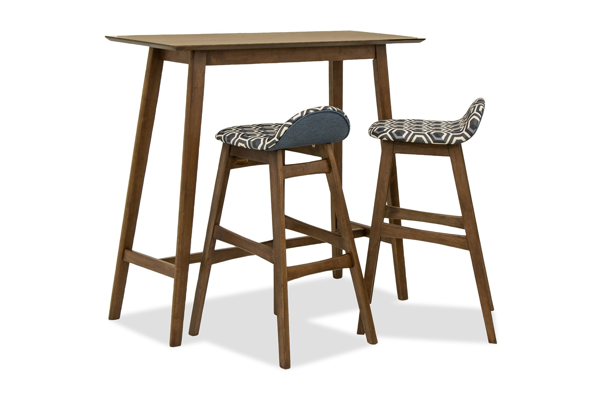 Enzo Bar Set In Walnut Furniture Home Decor Fortytwo