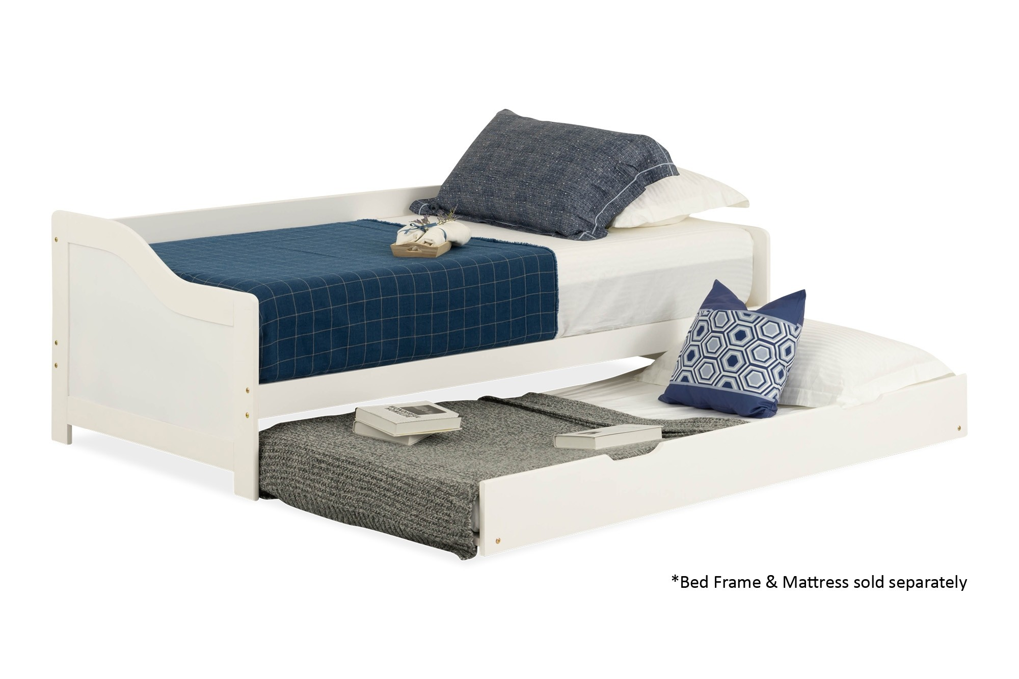 hot sale online dd73e a87e0 Lucine Wooden Pull Out Bed (Single, White)
