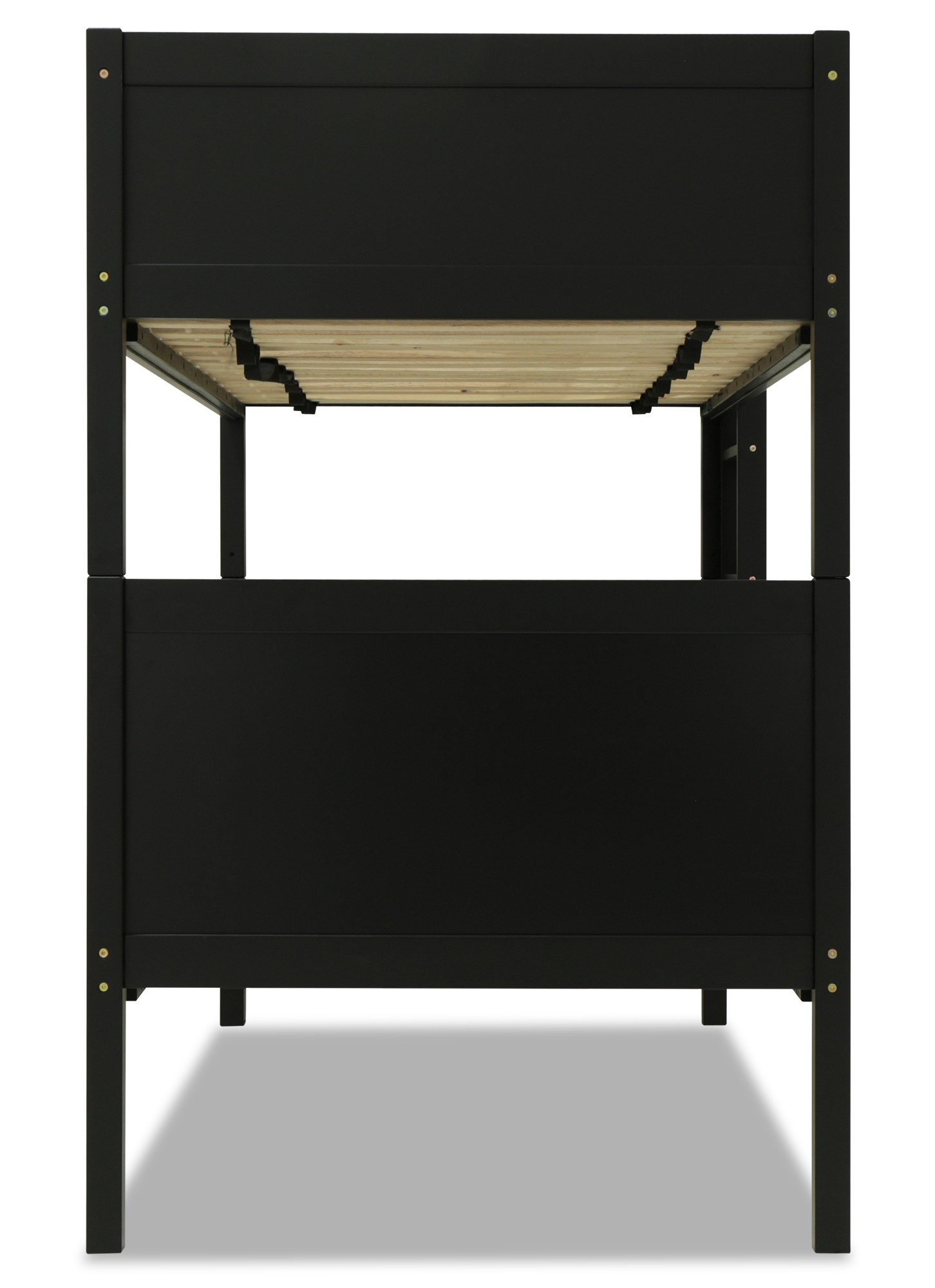 Rio Wooden Bunk Bed Black Double Decks Beds Bedroom Furniture