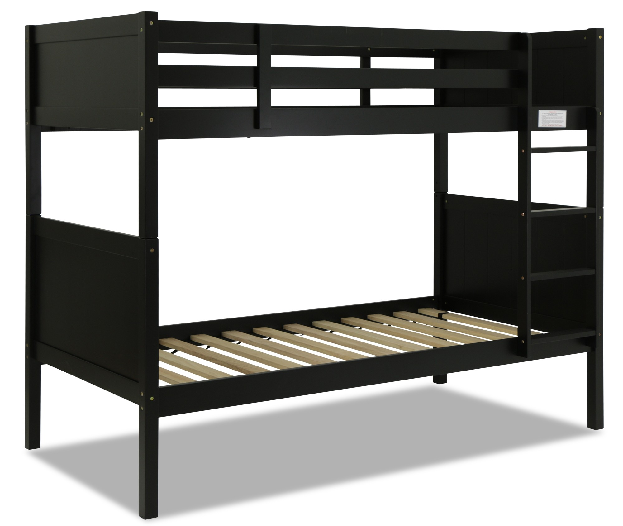 Rio Wooden Bunk Bed Black Furniture Home Decor Fortytwo
