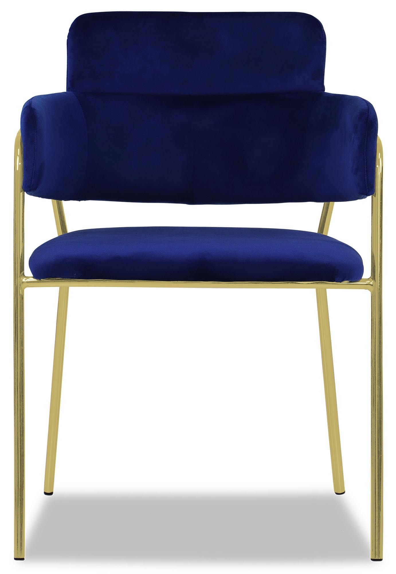 Royal Blue Chair Decor Pink Living Room: Emmiel Chair With Gold Legs (Royal Blue)