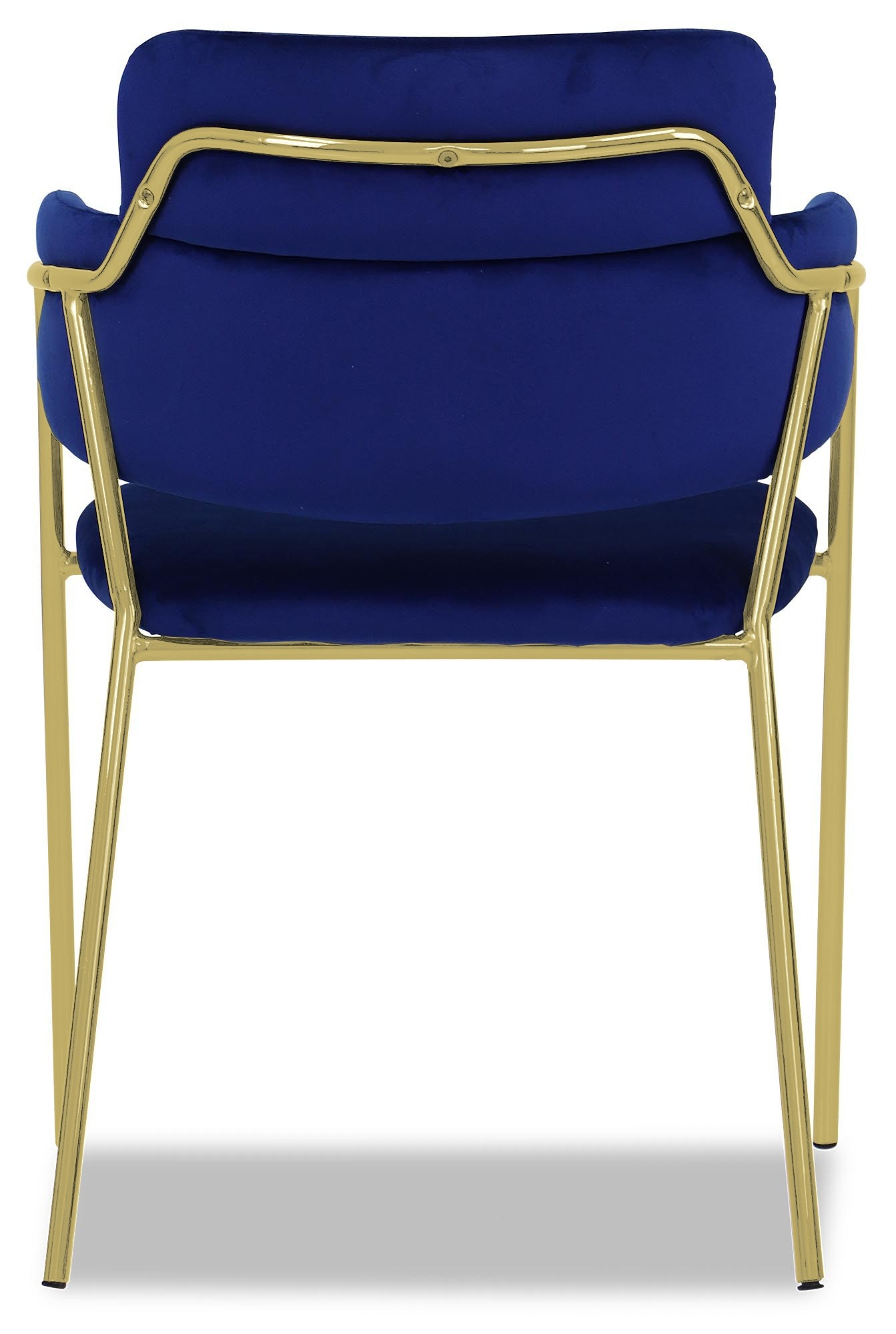 Emmiel Chair With Gold Legs Royal Blue