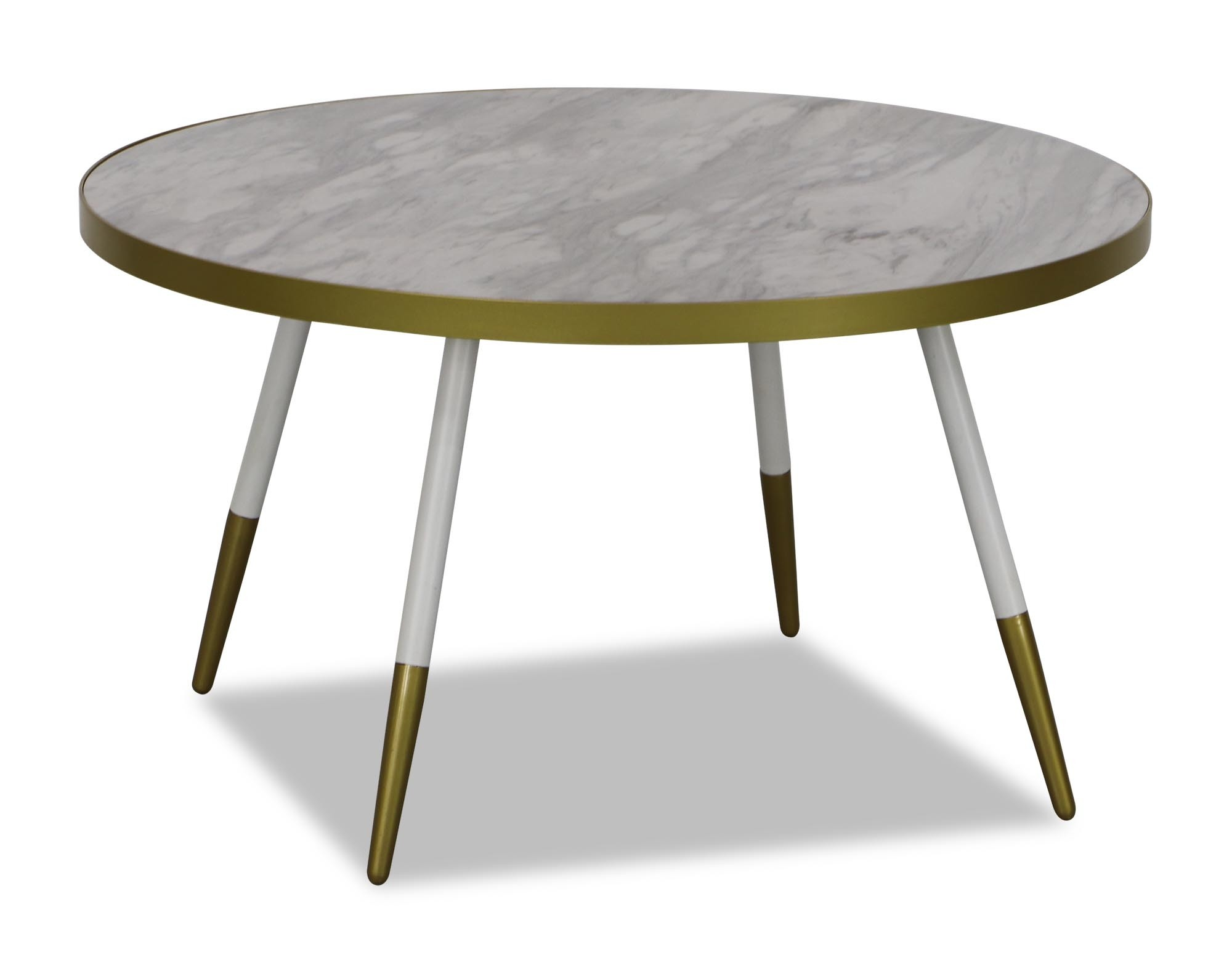 Noveau Coffee Table In White Marble Furniture Home Décor Fortytwo