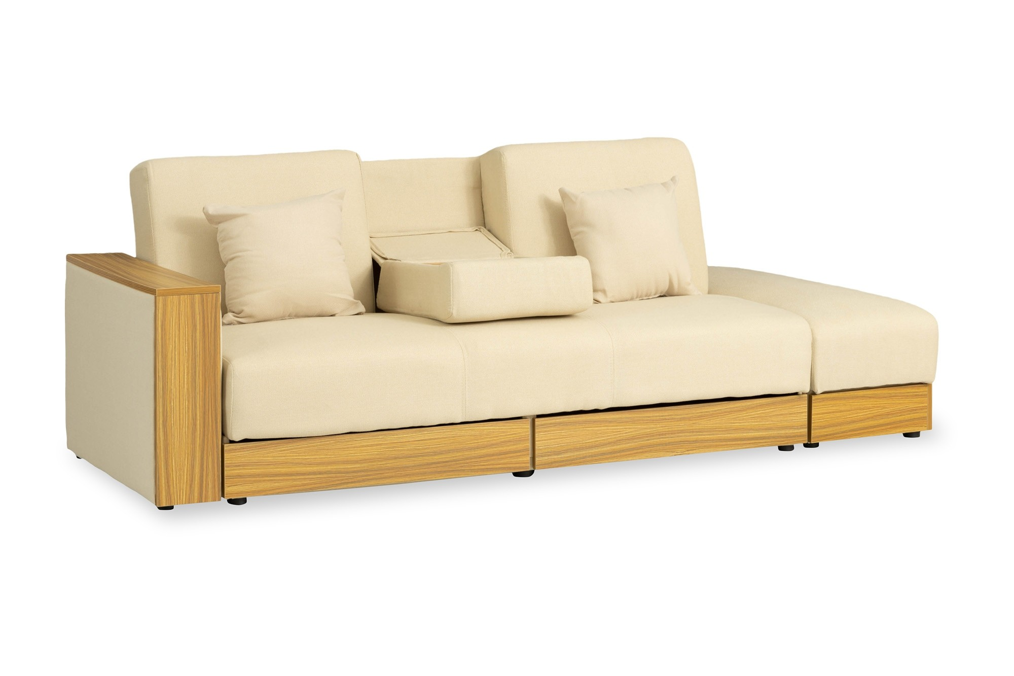 Sarai Storage Sofa Bed Fabric Beige