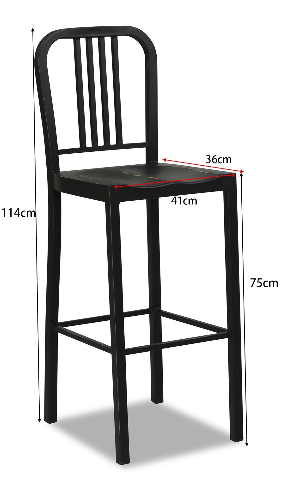 Navy Metal High Bar Stool Antique Black Furniture amp Home  : img903613 from www.fortytwo.sg size 1224 x 2000 jpeg 103kB