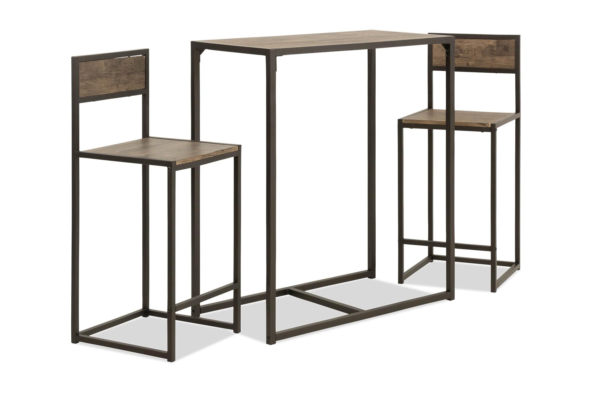 Lina Bar Set In Dark Natural Oak Furniture Home Decor Fortytwo