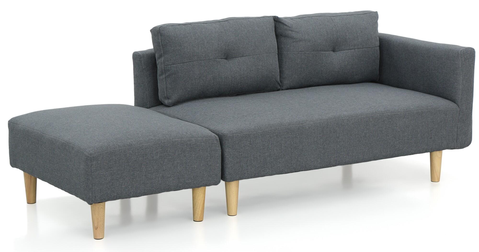 Nala Left Corner Sofa With Ottoman Grey All Sofas Sofas Sofa