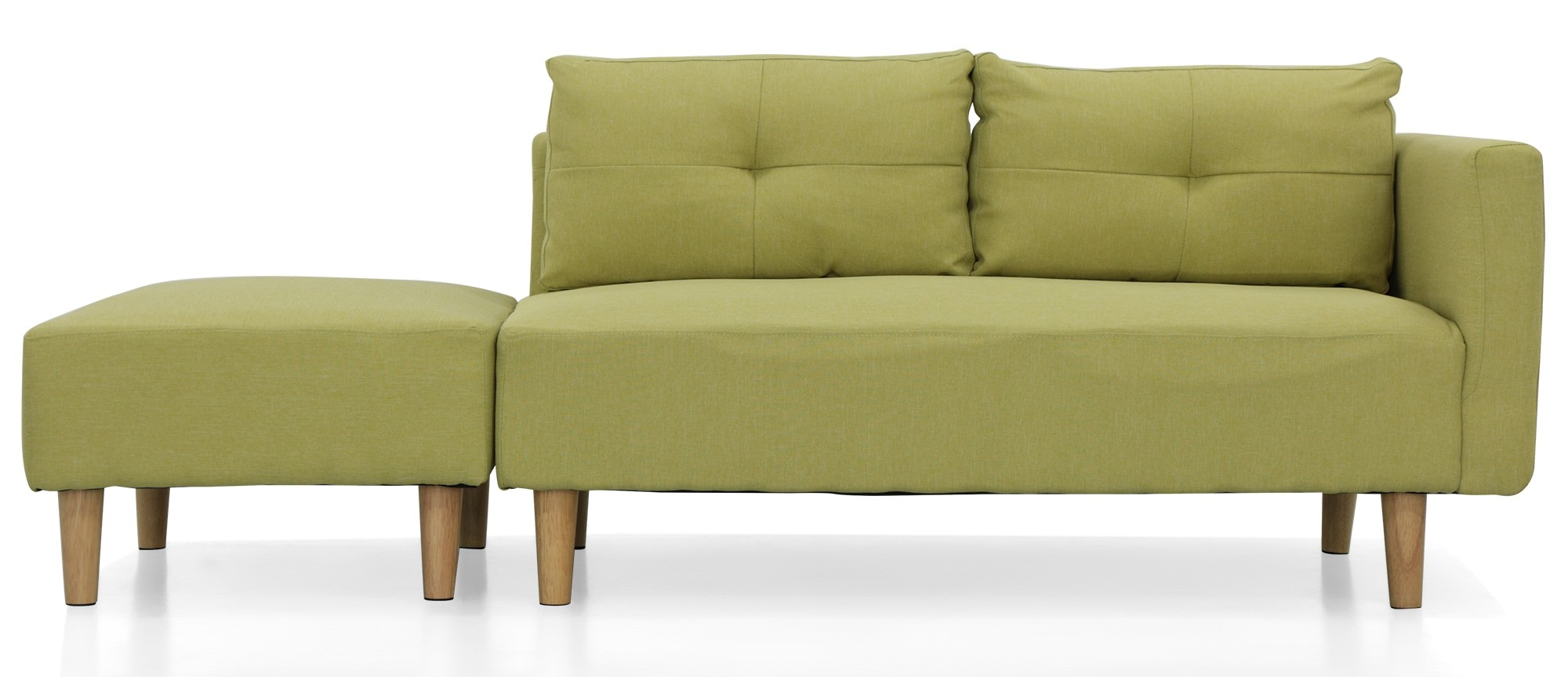 Nala Left Corner Sofa With Ottoman Green Furniture Home Decor