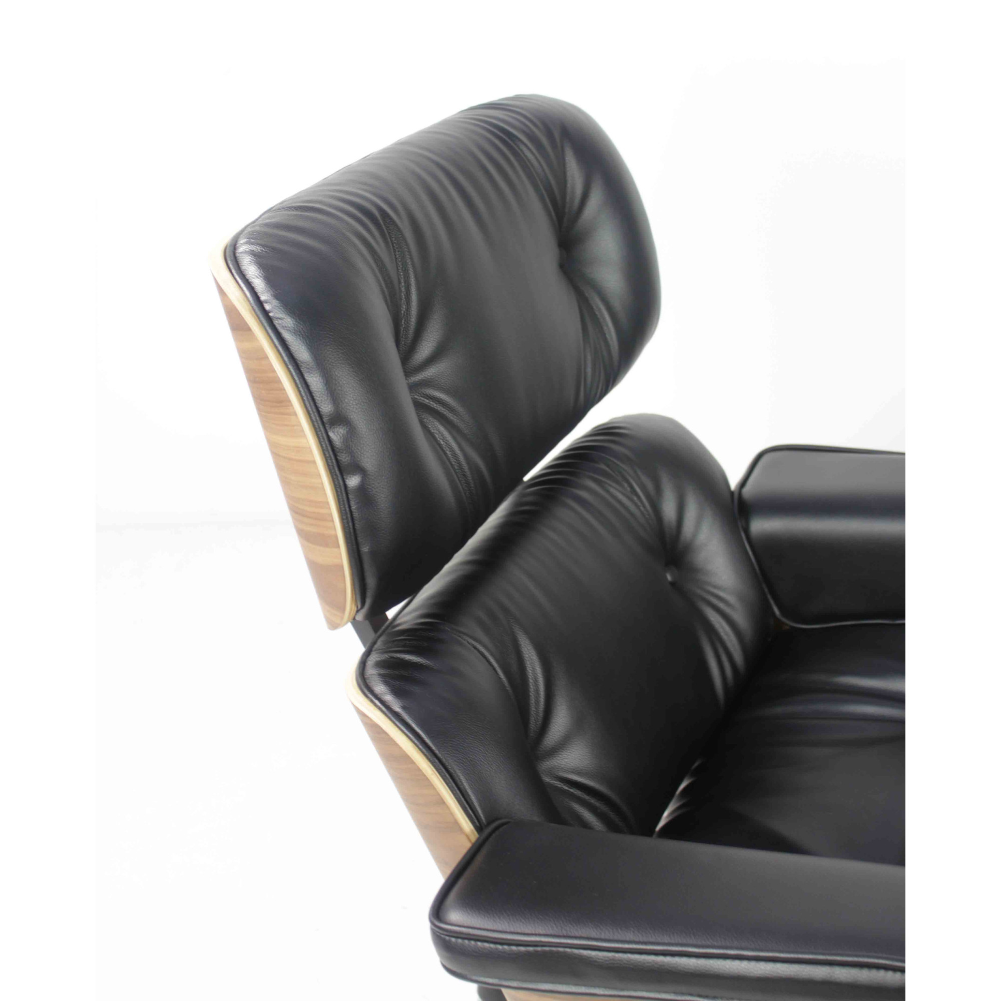 Eames Replica Lounge Chair (Black Leather)