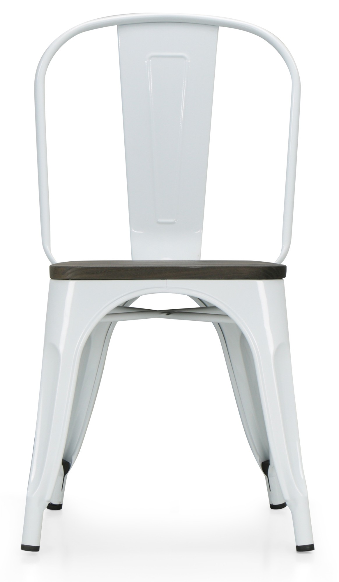 Retro Metal Chair With Wooden Seat White Dining Chairs