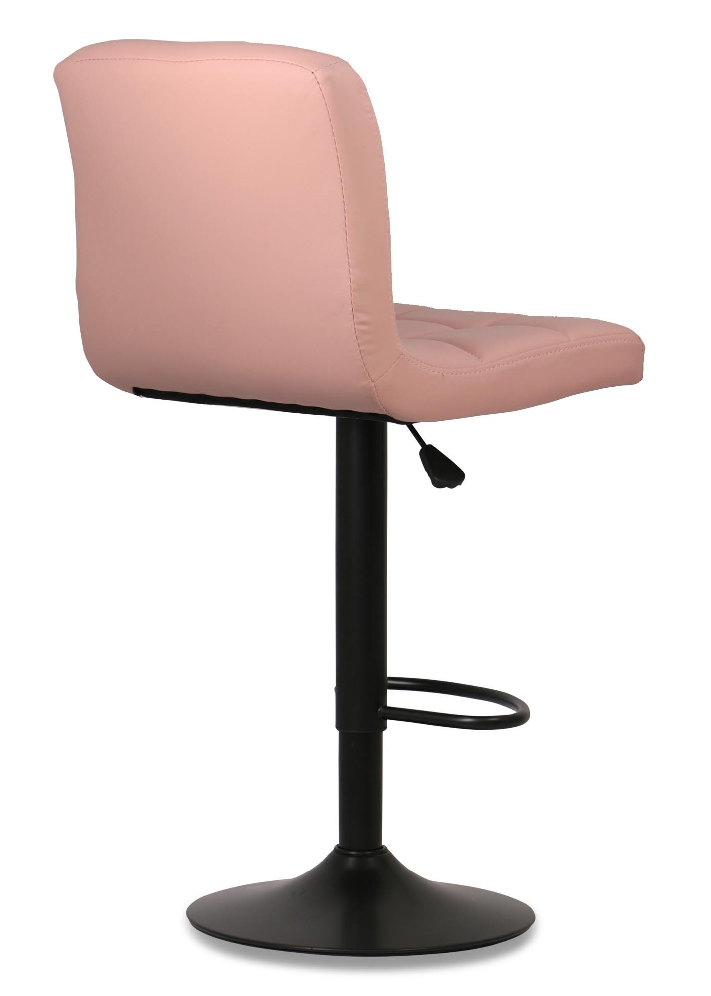 Isora Bar Stool With Black Base Light Pink Furniture Home Décor Fortytwo