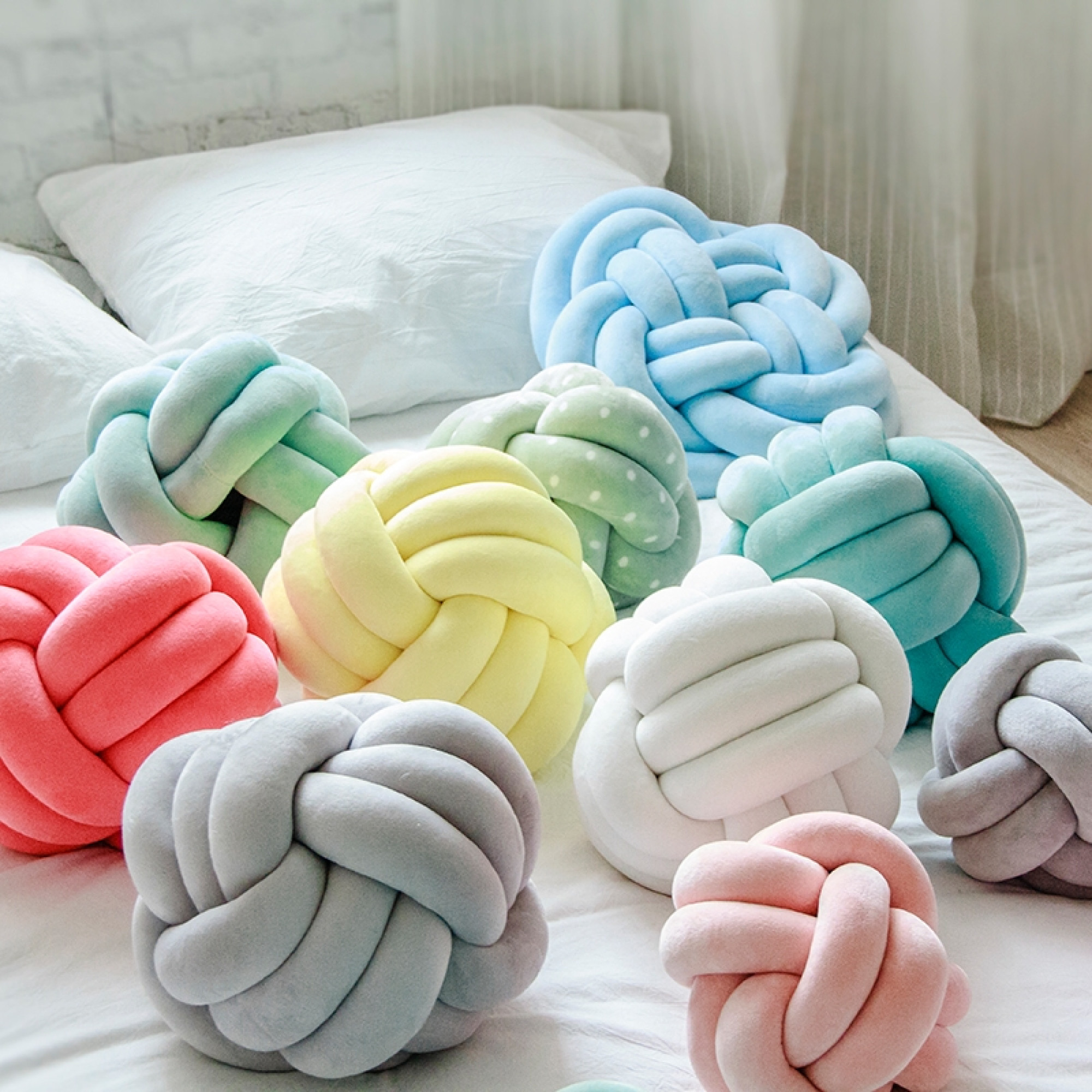 Delos Knot Cushion Mint Furniture Home Decor Fortytwo