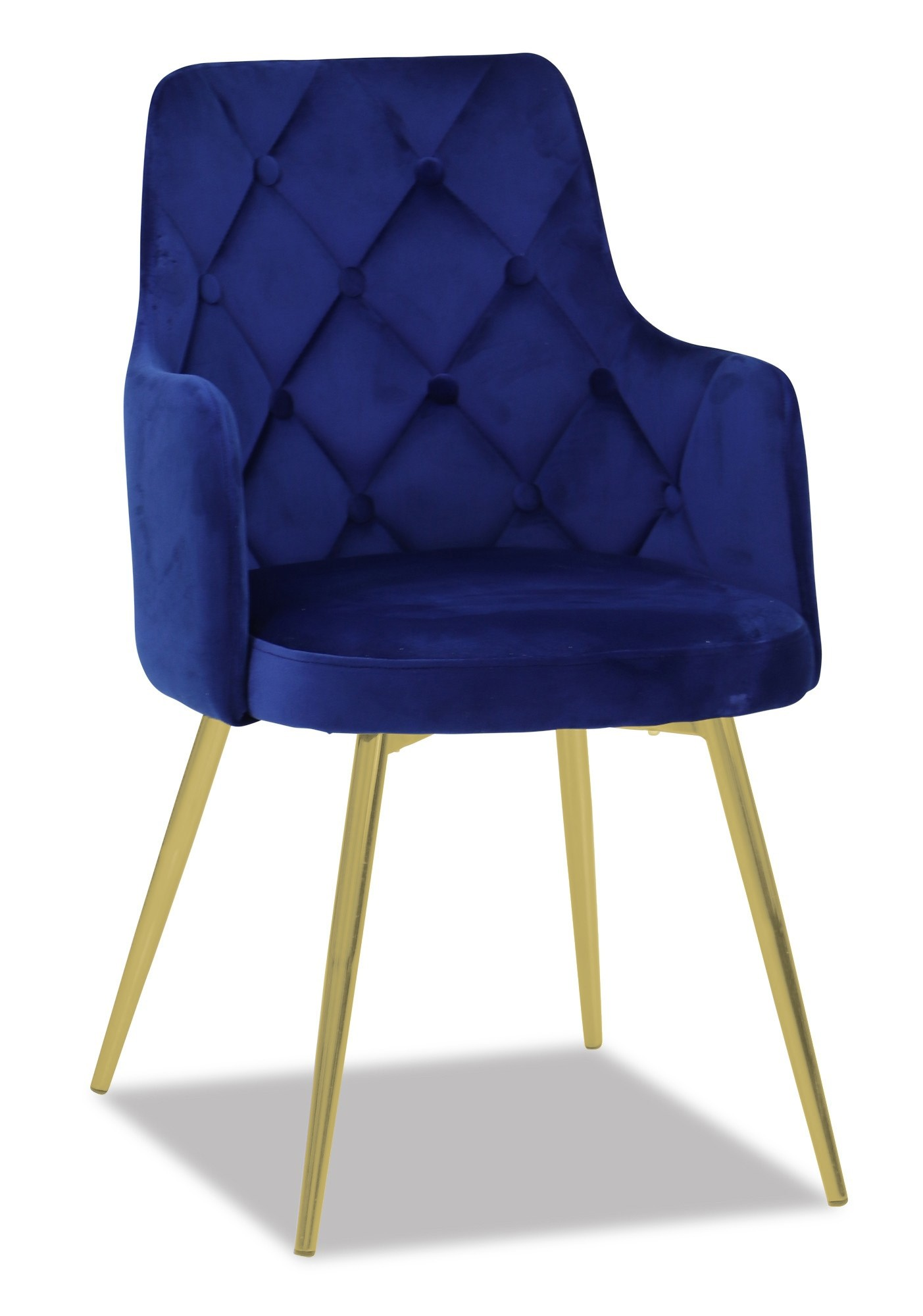 Royal Blue Chair Decor Pink Living Room: Laurie Chair With Gold Legs (Royal Blue)