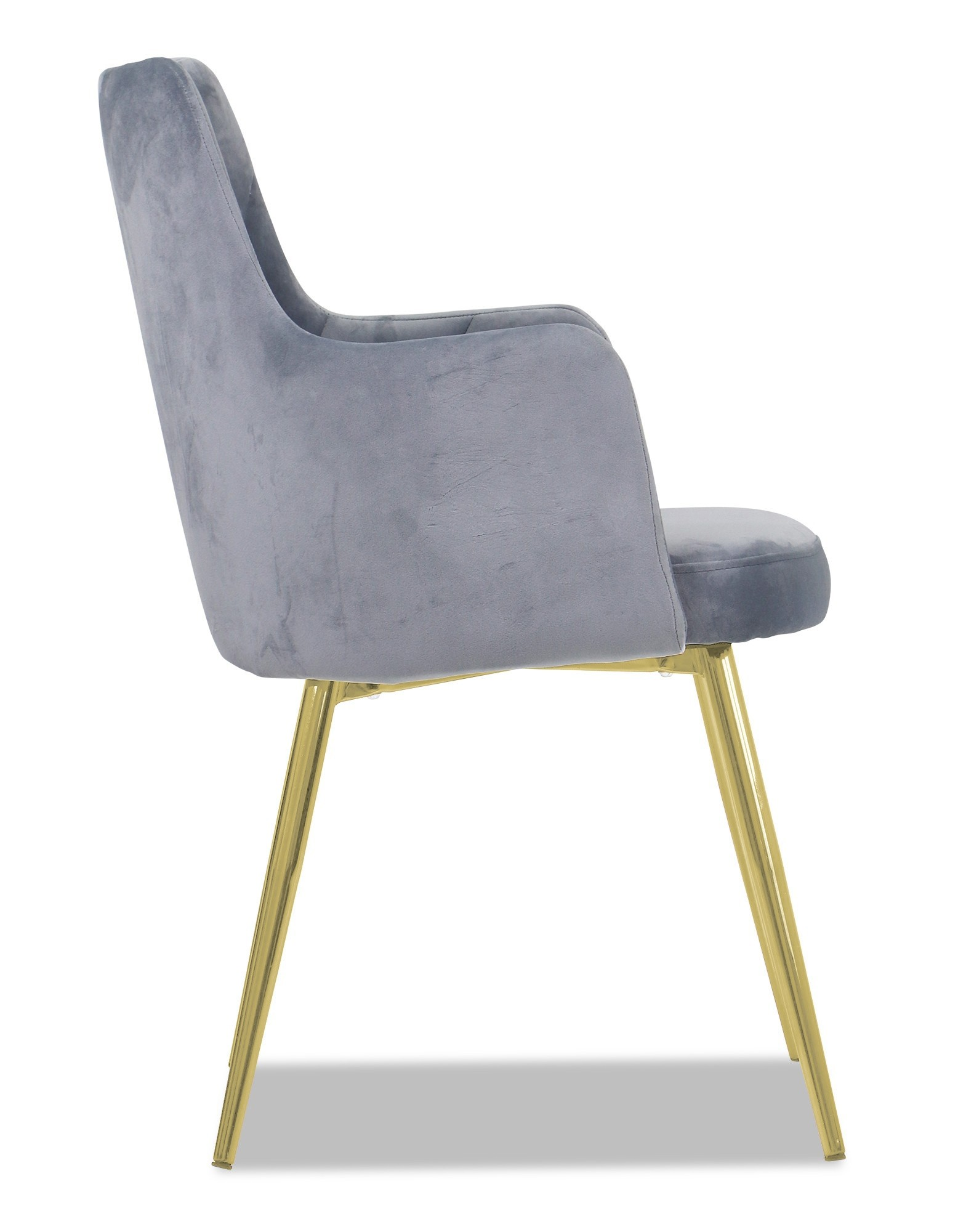 Laurie Chair With Gold Legs Grey