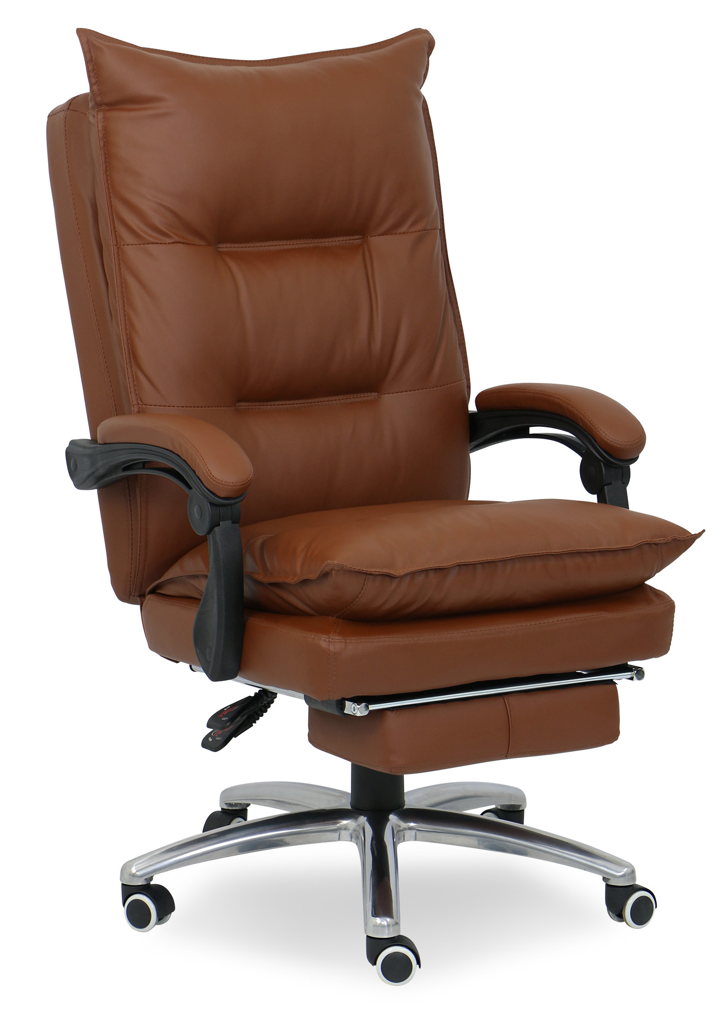 Deluxe pu executive office chair brown