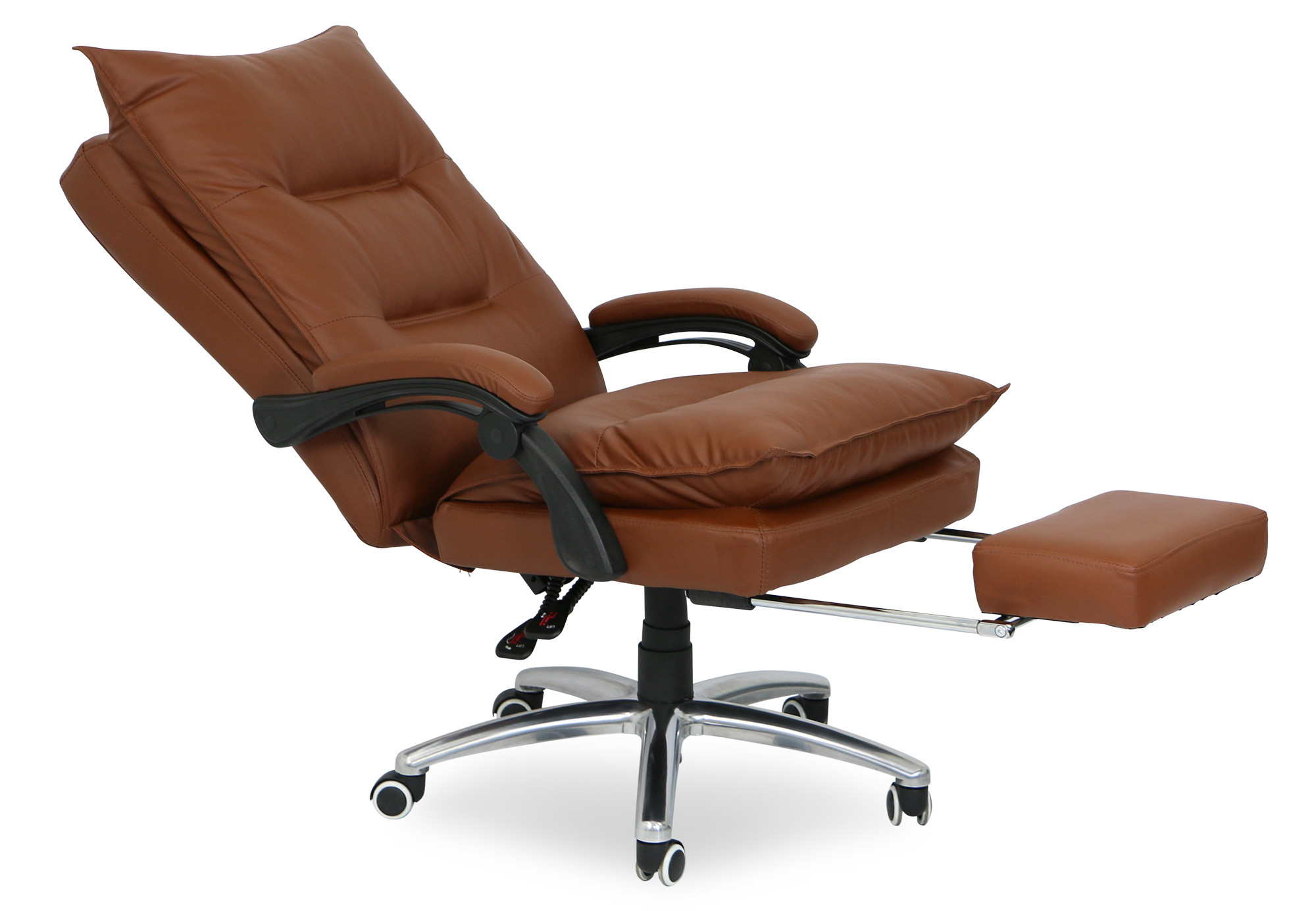Deluxe Pu Executive Office Chair Brown Display Gallery Item 1