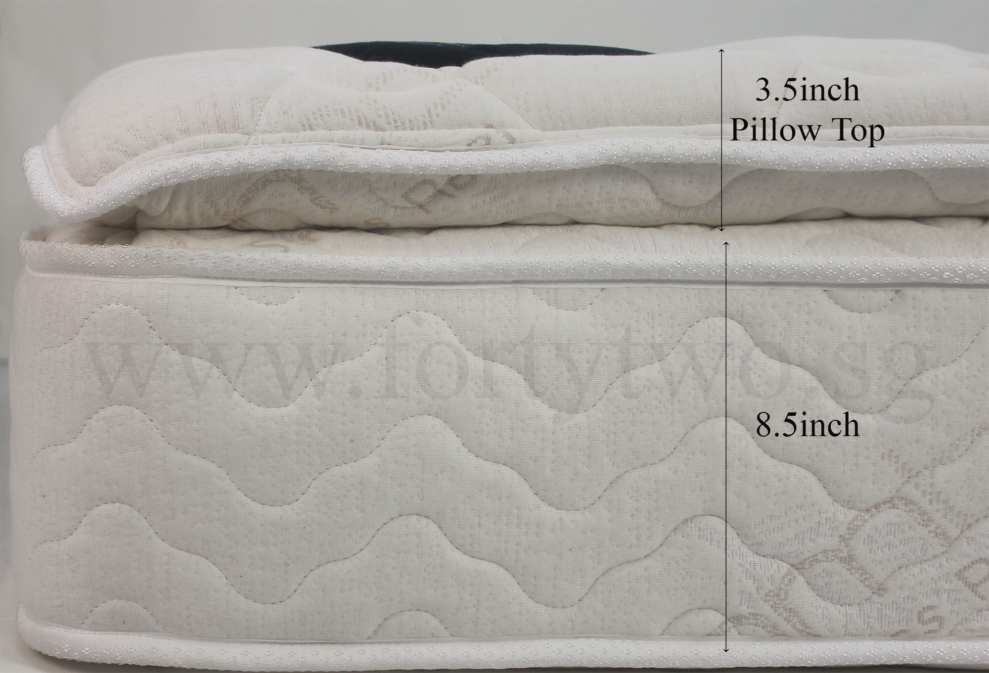garden shipping topper free product overstock top queen size plush quilted inch today home mattress foam pillow nuform