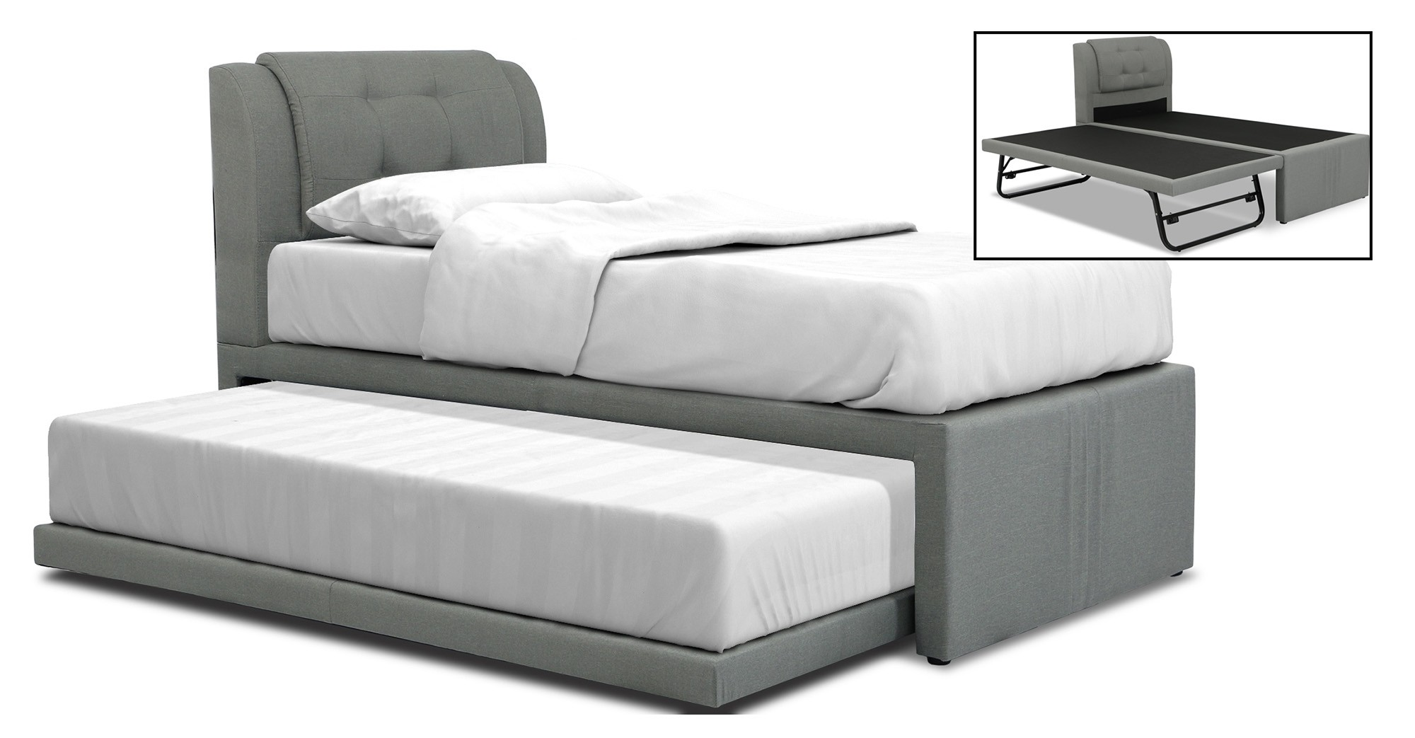 save off 513f7 643b5 Neak 2 in 1 Bedframe with Pull-out Trundle