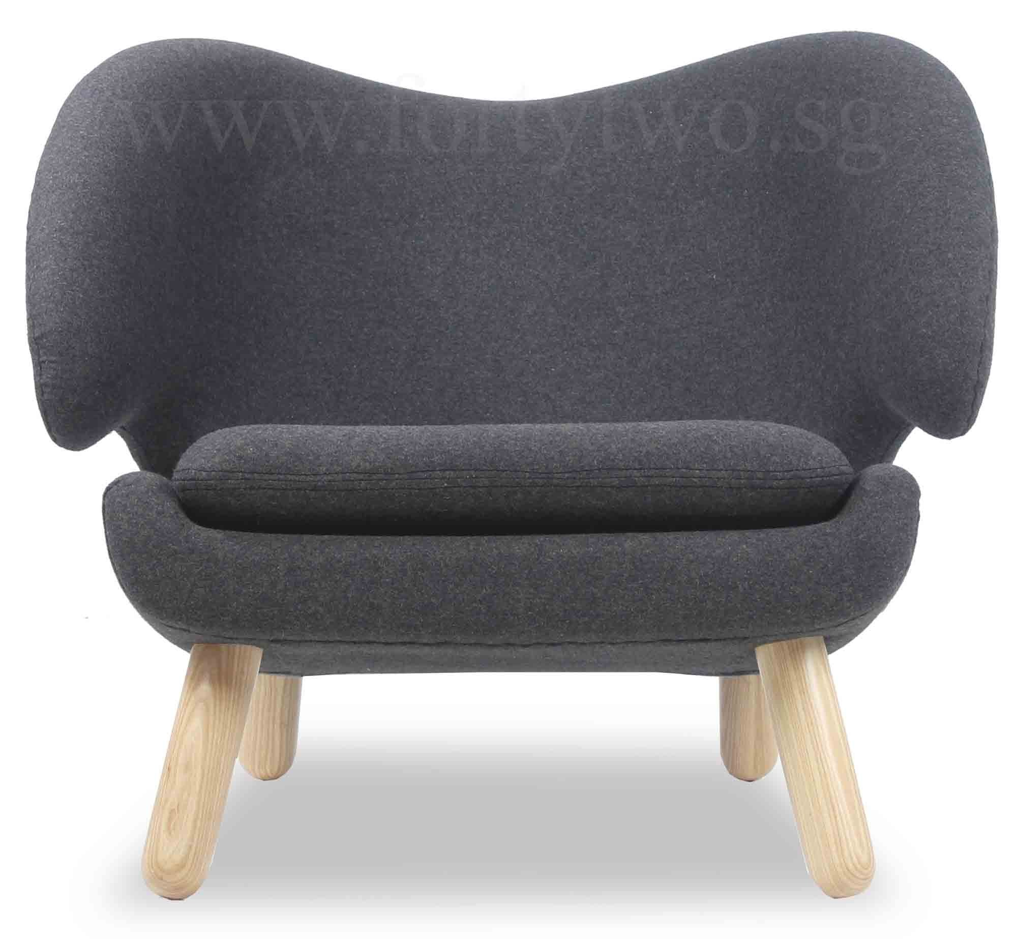 Designer replica pelican chair in charcoal furniture for Imitation designer chairs