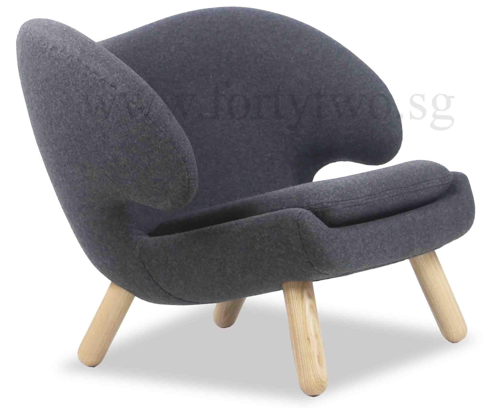 Designer replica pelican chair in charcoal furniture for Replica designer furniture usa