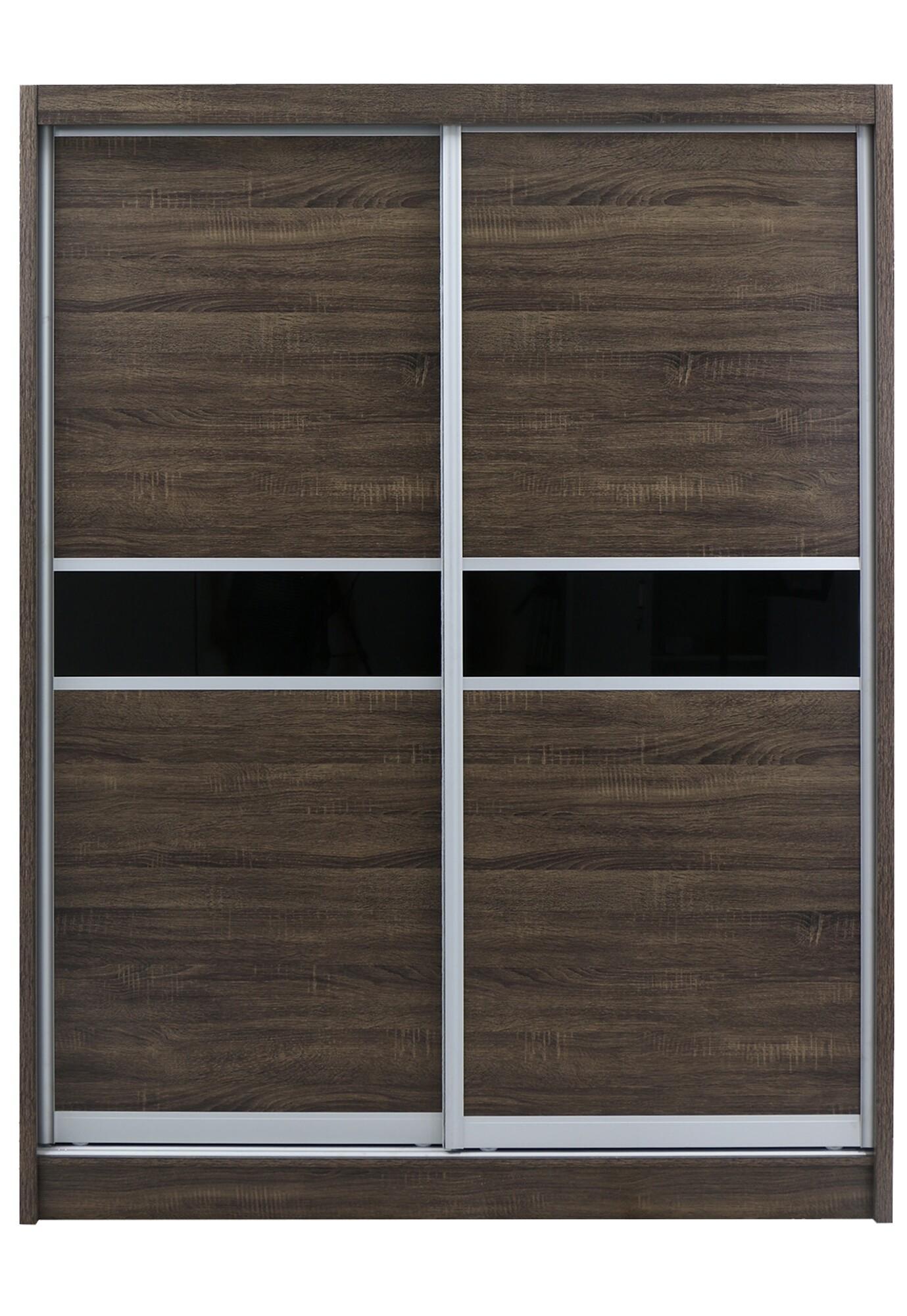 Pich Sliding Door Wardrobe 5ft Walnut Furniture Home Decor