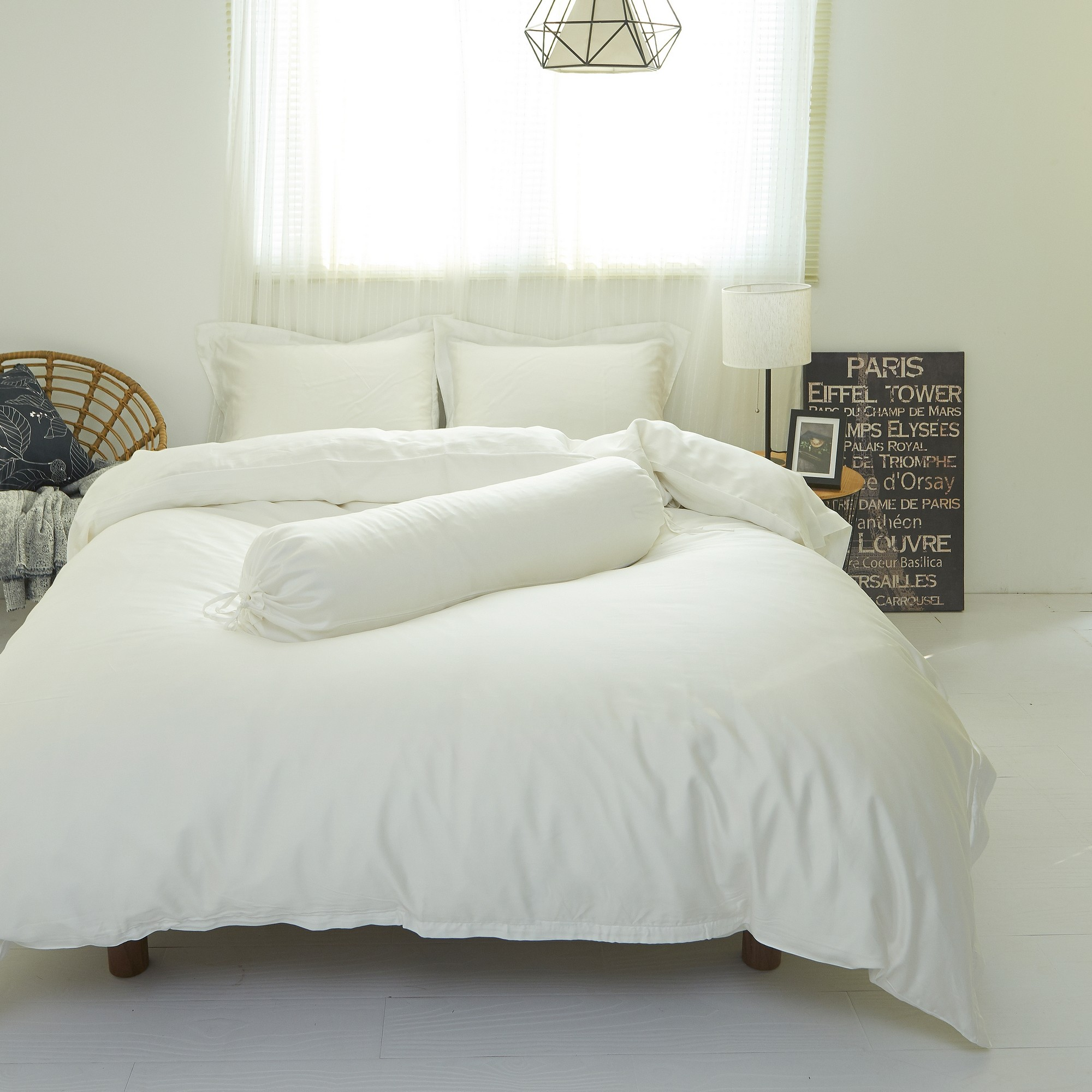 Palais Suite Tencel® Pearly White Fitted Sheet