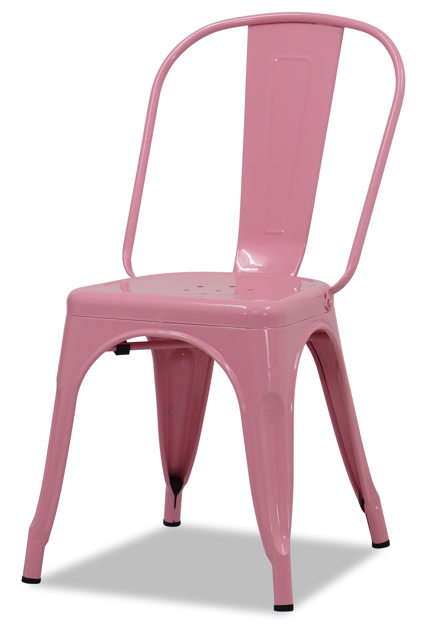 Retro Metal Chair Light Pink Chairs Seating