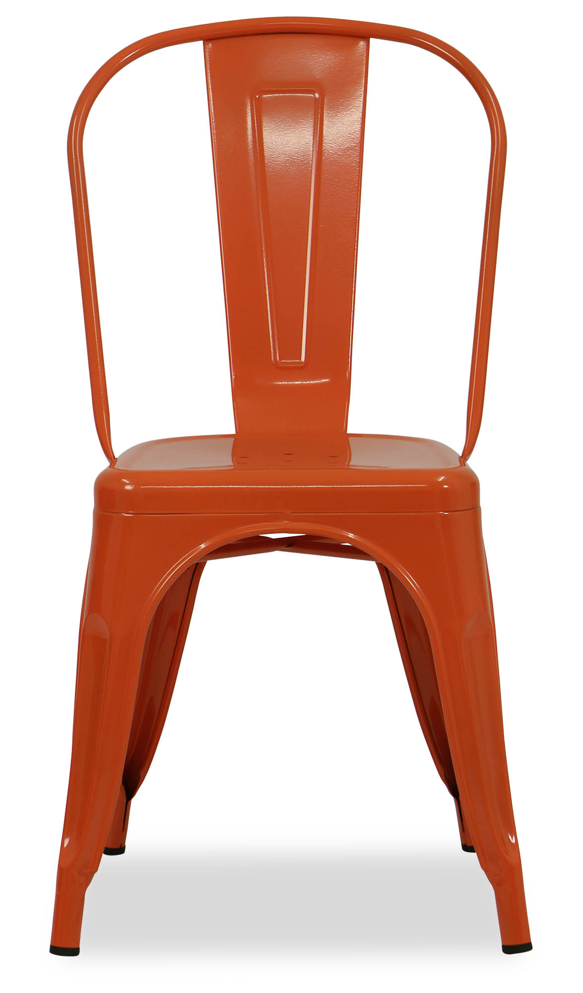 Retro Metal Chair Orange Dining Chairs Dining Room