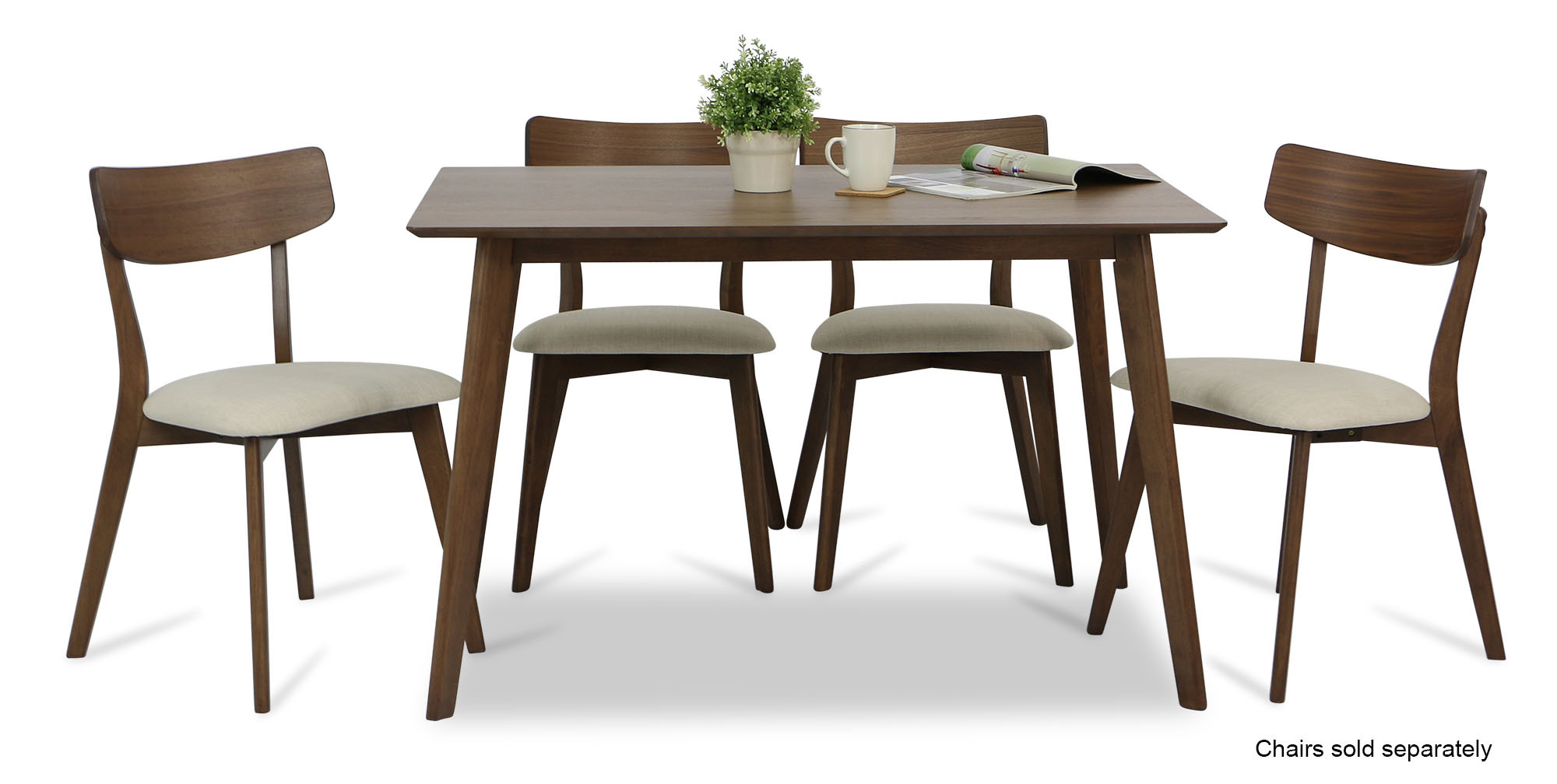 Enjoyable Ross Dining Table Walnut Gmtry Best Dining Table And Chair Ideas Images Gmtryco