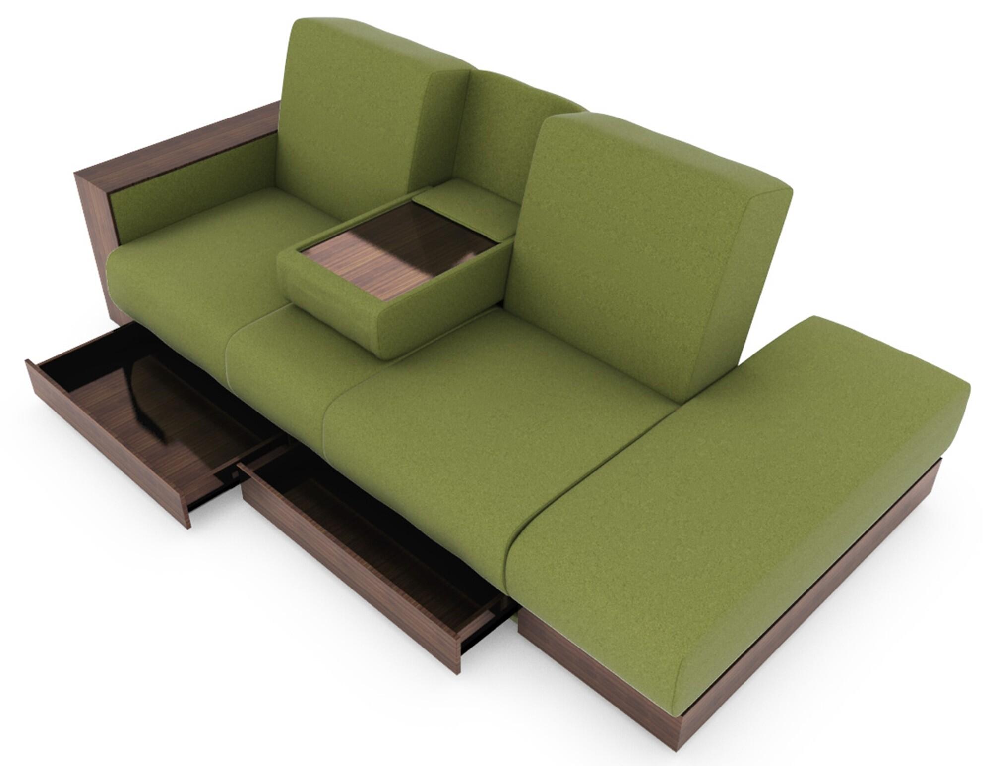 Sarai Storage Sofa Bed in Fabric Furniture & Home Décor