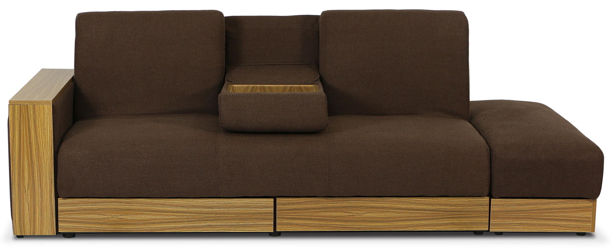 Sarai Storage Sofa Bed Fabric Brown
