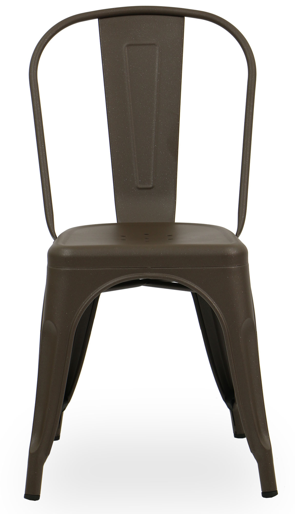 Retro Metal Chair Shinny Brown Dining Chairs Dining