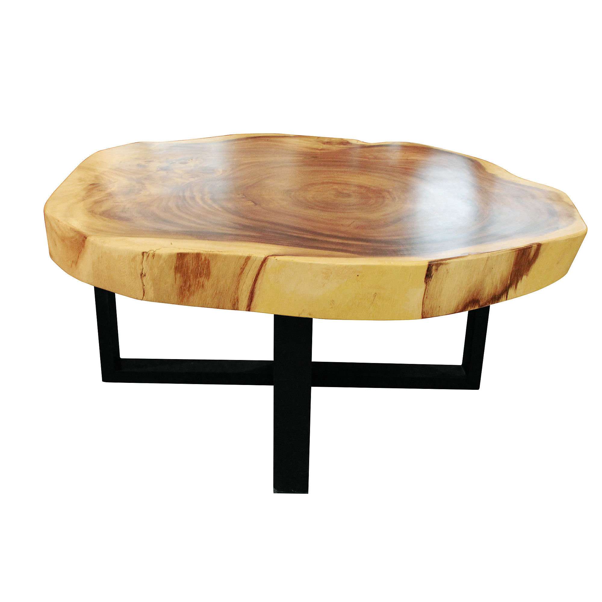 Round Coffee Table - Cross Base D100