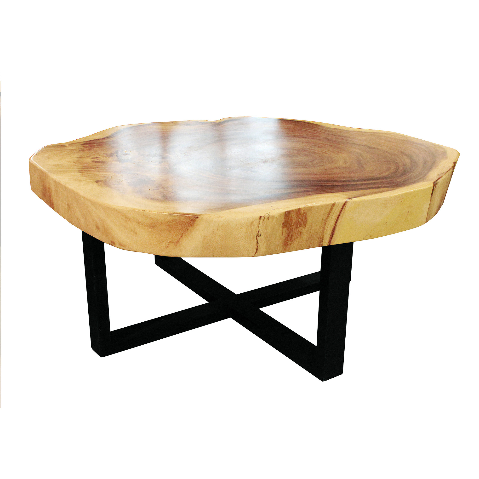 Round Coffee Table With Storage Singapore: Round Coffee Table - Cross Base D100