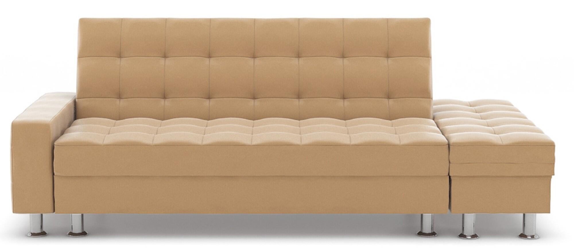 Thora Multi Storage Sofa Bed Pvc Champagne Furniture Home