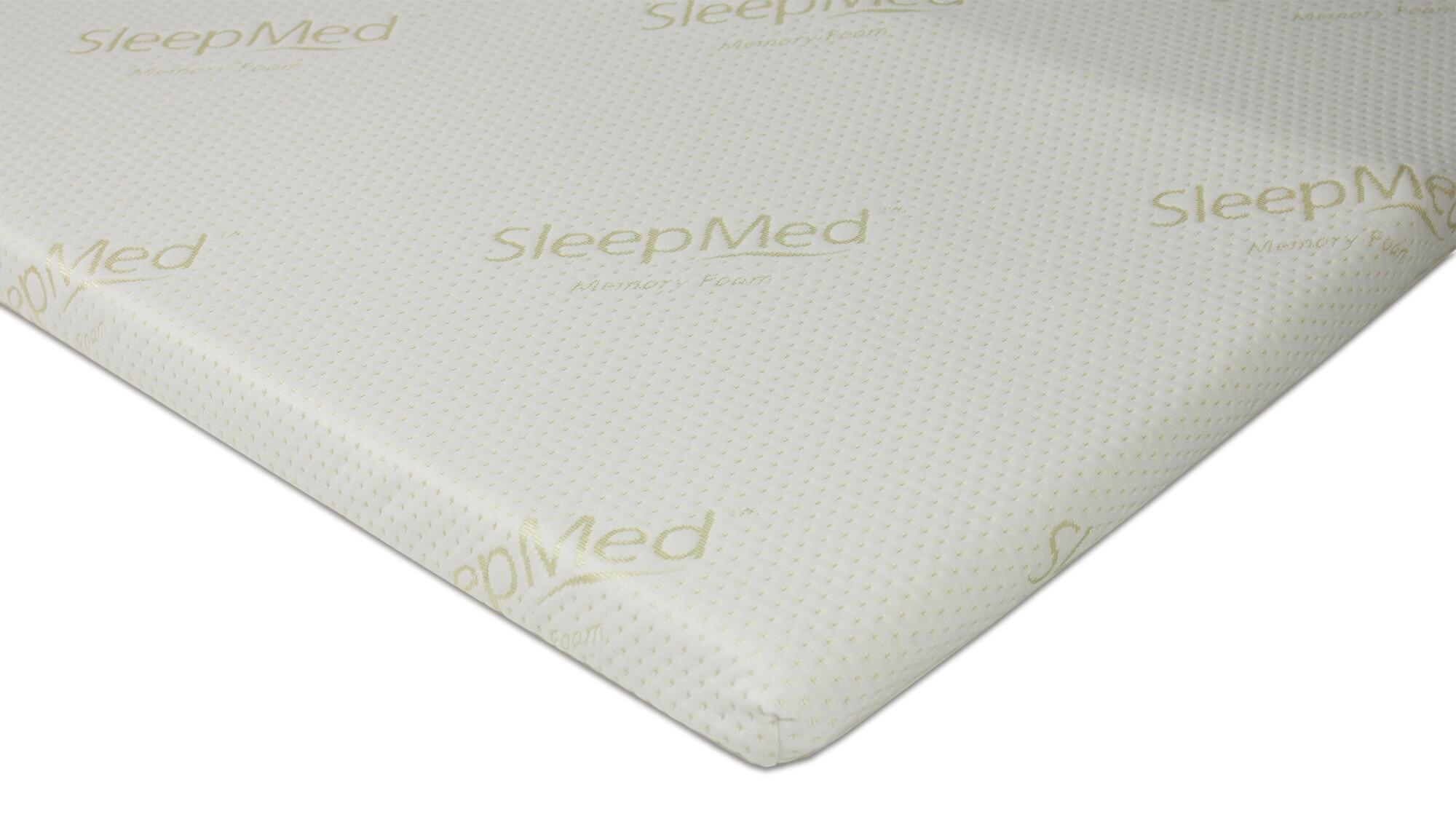 sleepmed memory foam topper super single furniture. Black Bedroom Furniture Sets. Home Design Ideas