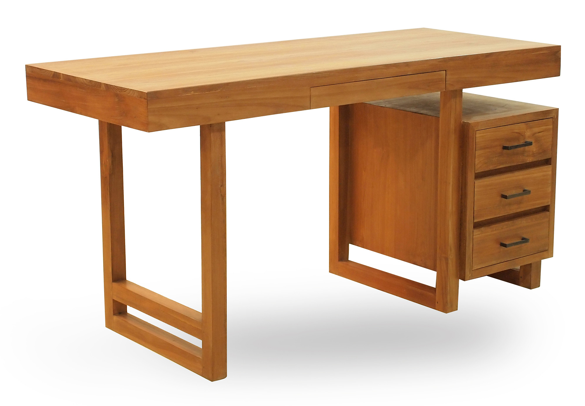 dabney teak minimalist study table furniture home
