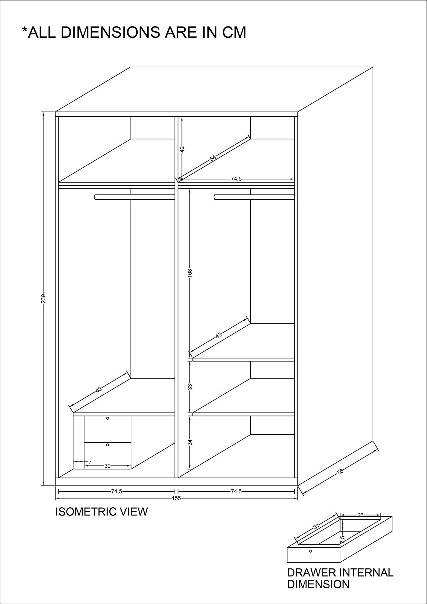 Spiff Wardrobe Furniture Amp Home D 233 Cor Fortytwo