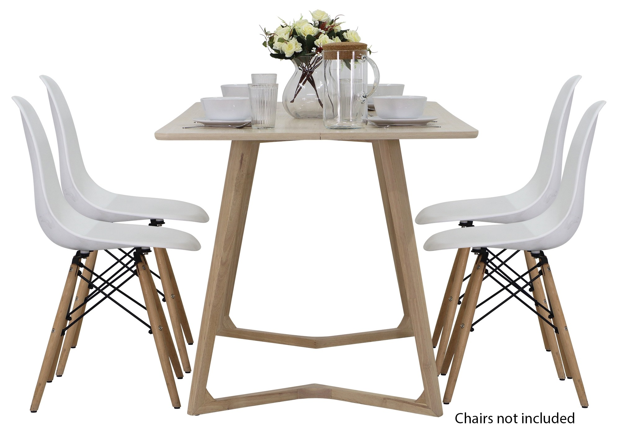Weller designer wooden dining table oak regular price s389 00