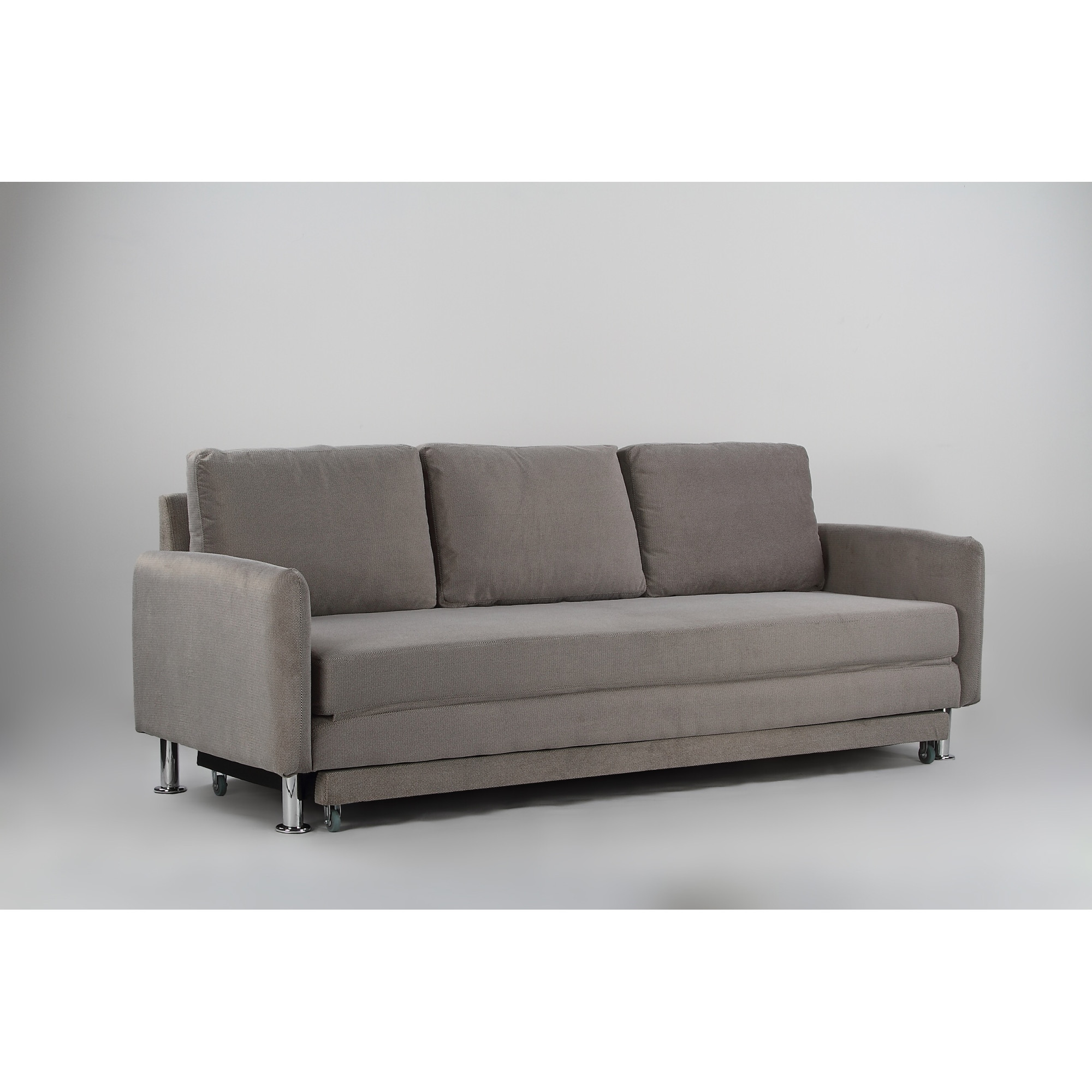 Cozy 3 Seater Pull Out Sofa Bed Grey