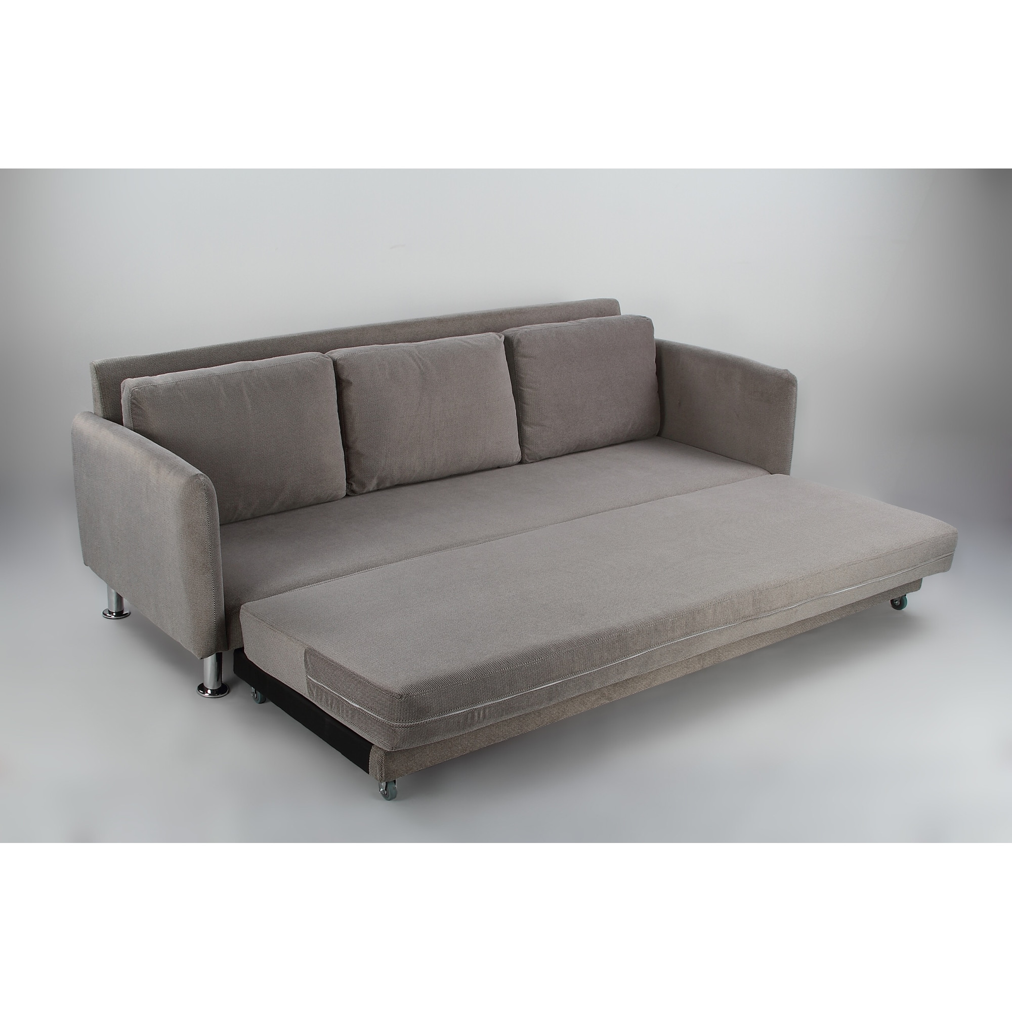 Cozy 3 Seater Grey Pull Out Sofa Bed
