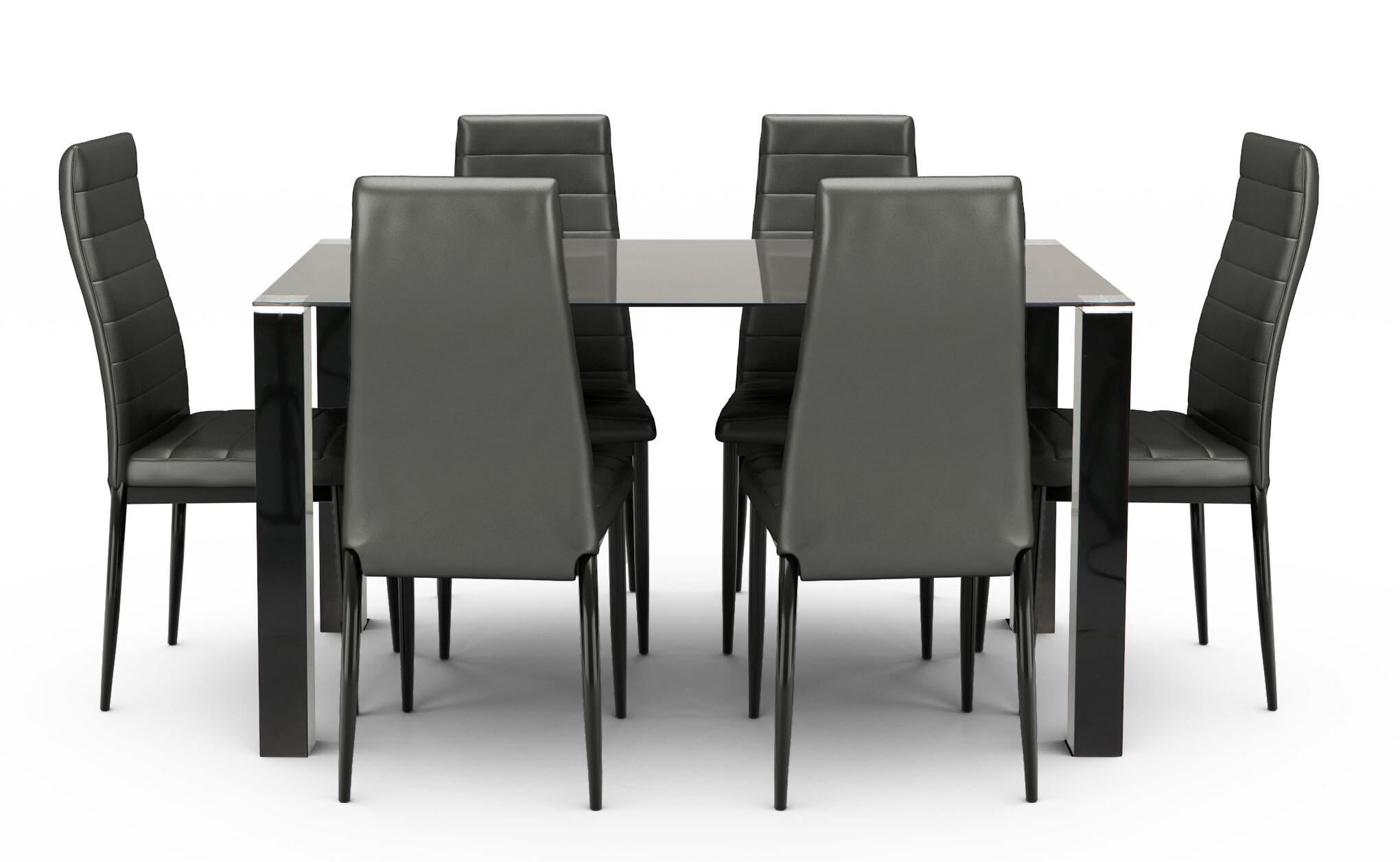 Tarvola dining set black a 1 6