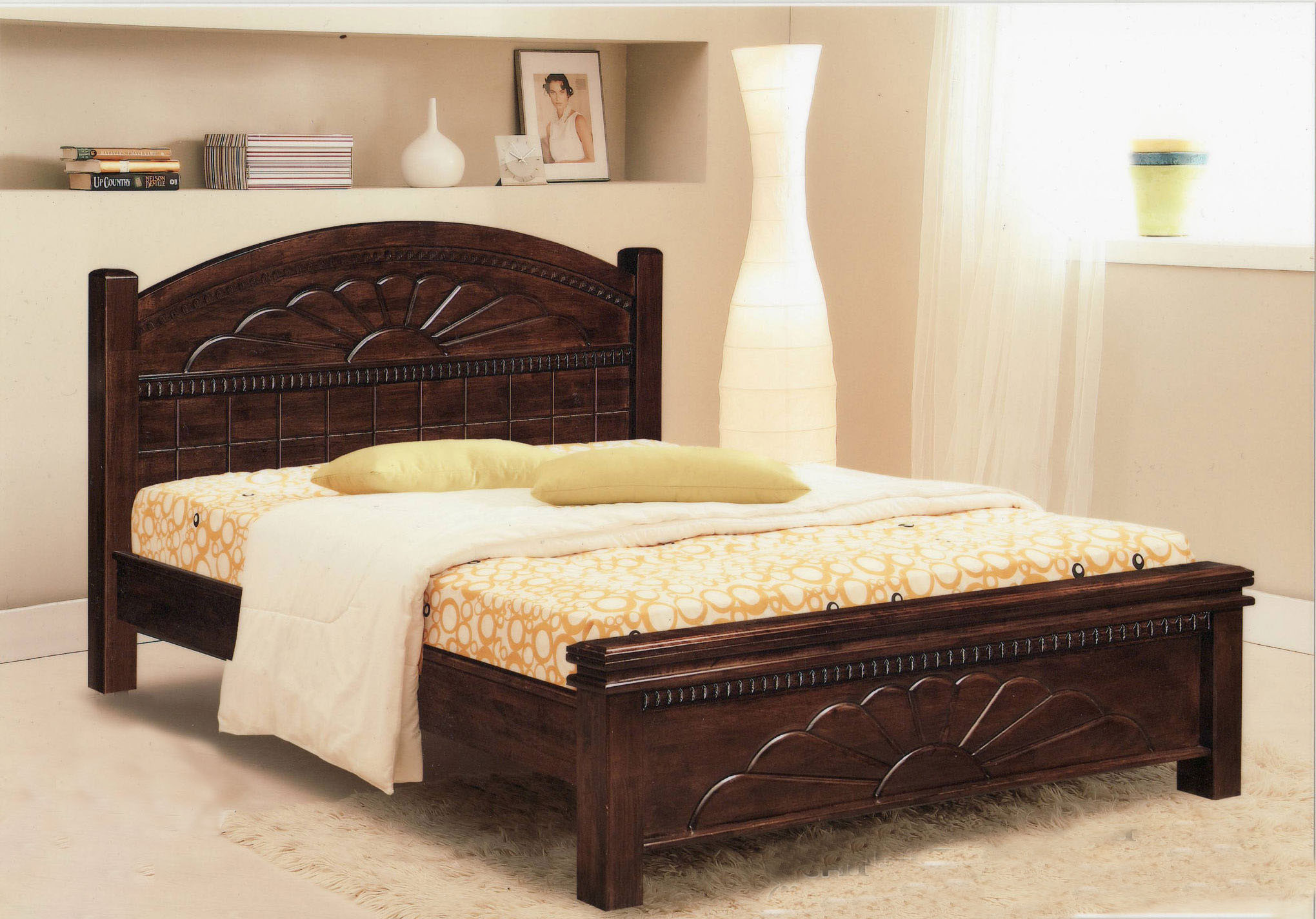dering wooden bed frame queen sized