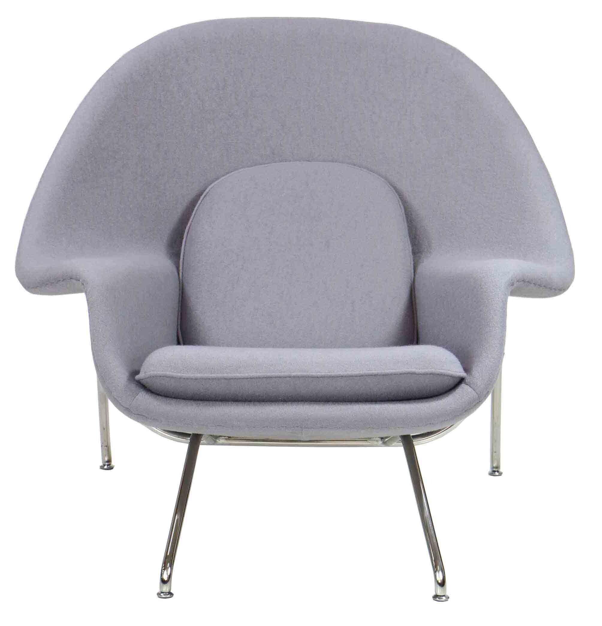 Designer Replica Womb Chair In Light Grey