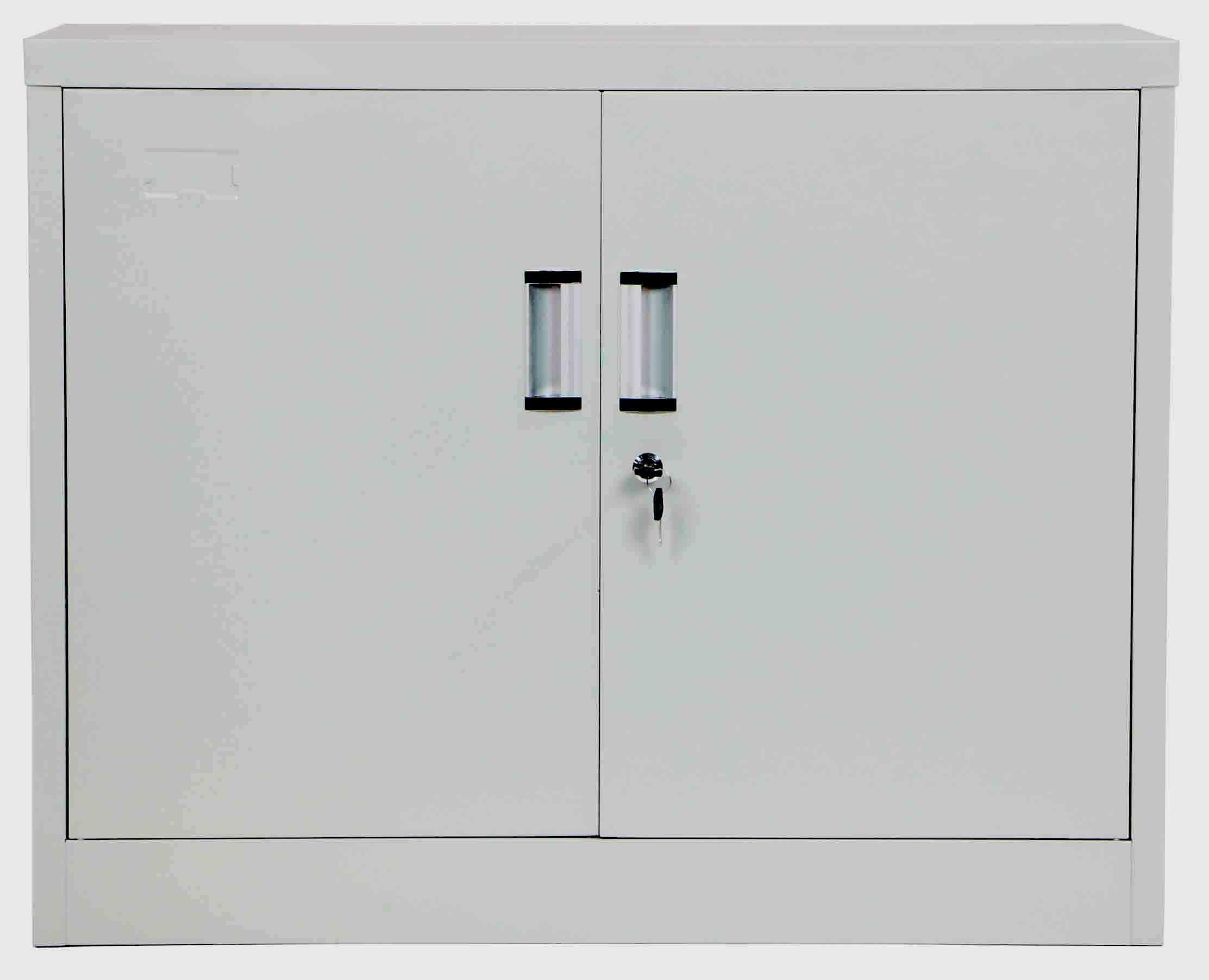 Terri Low Steel Filing Cabinet Light Grey