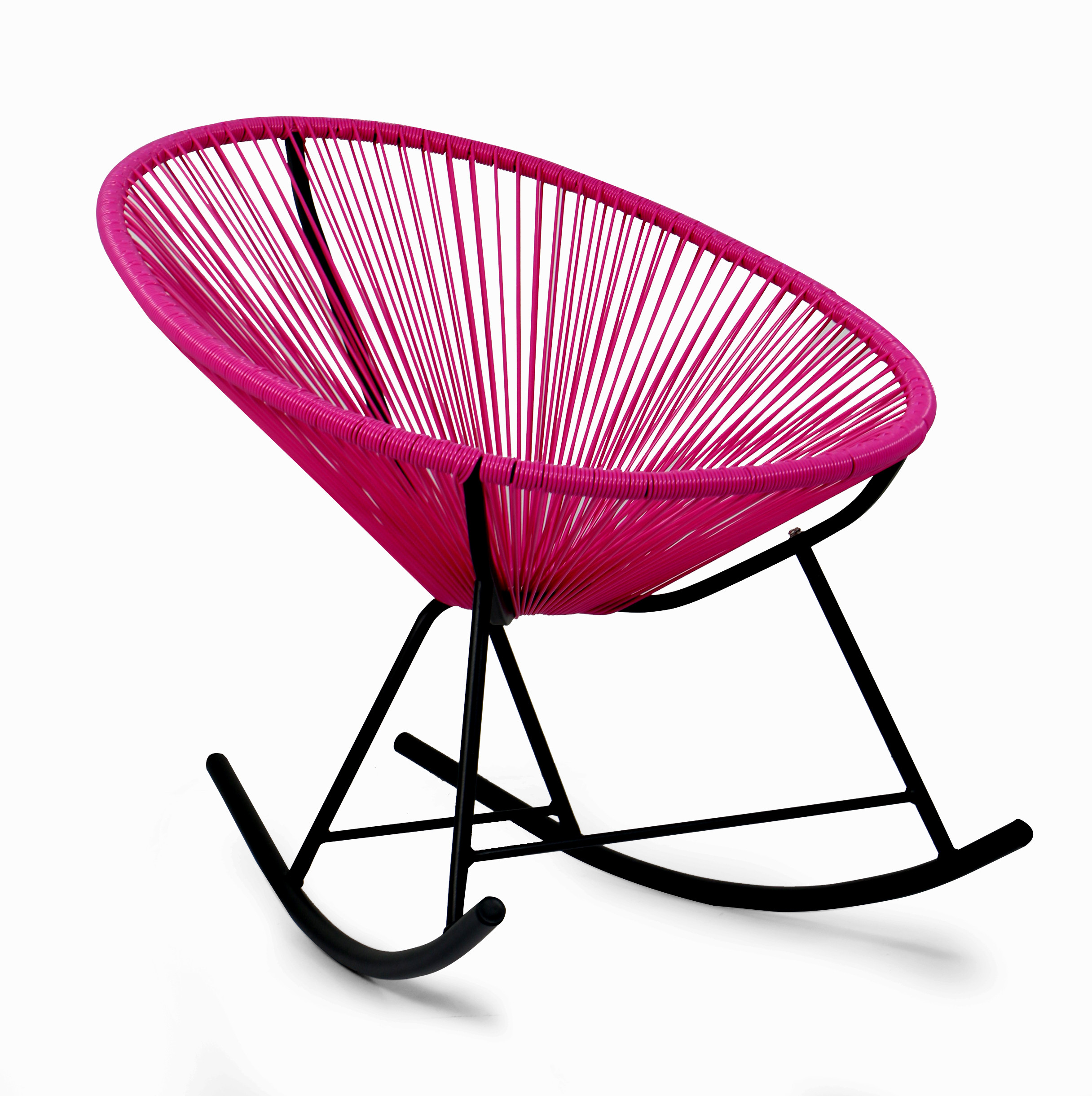 Fuchsia Peony Patio Rocking Chair Furniture & Home Décor
