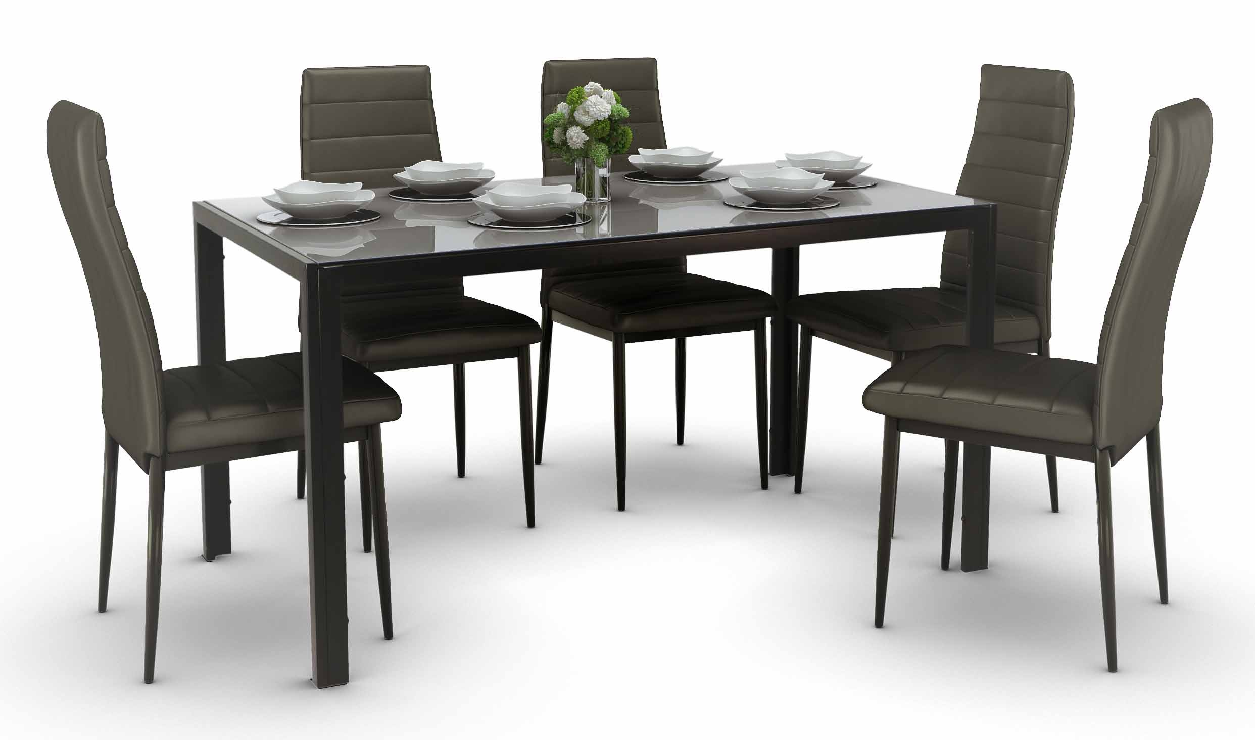 Trempe dining set black a 1 4